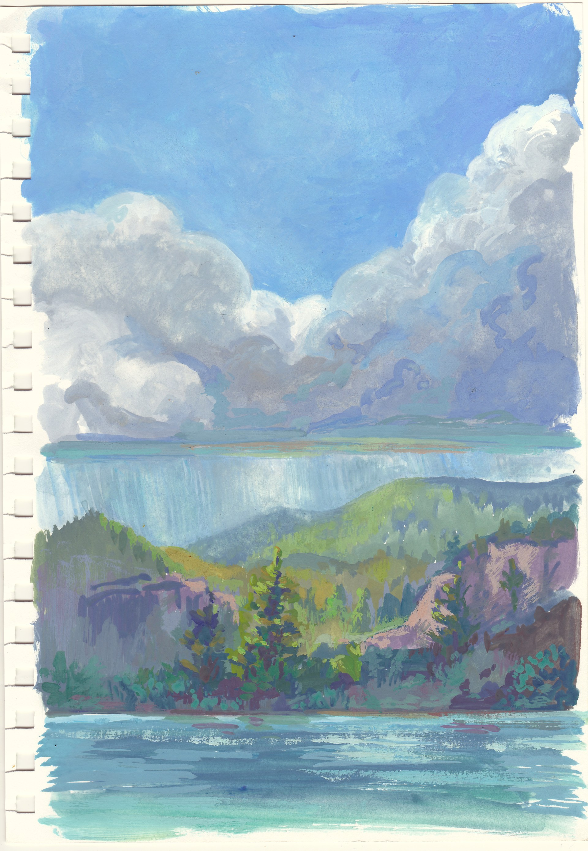 Study: Storm On The Lake by Charis Carmichael Braun