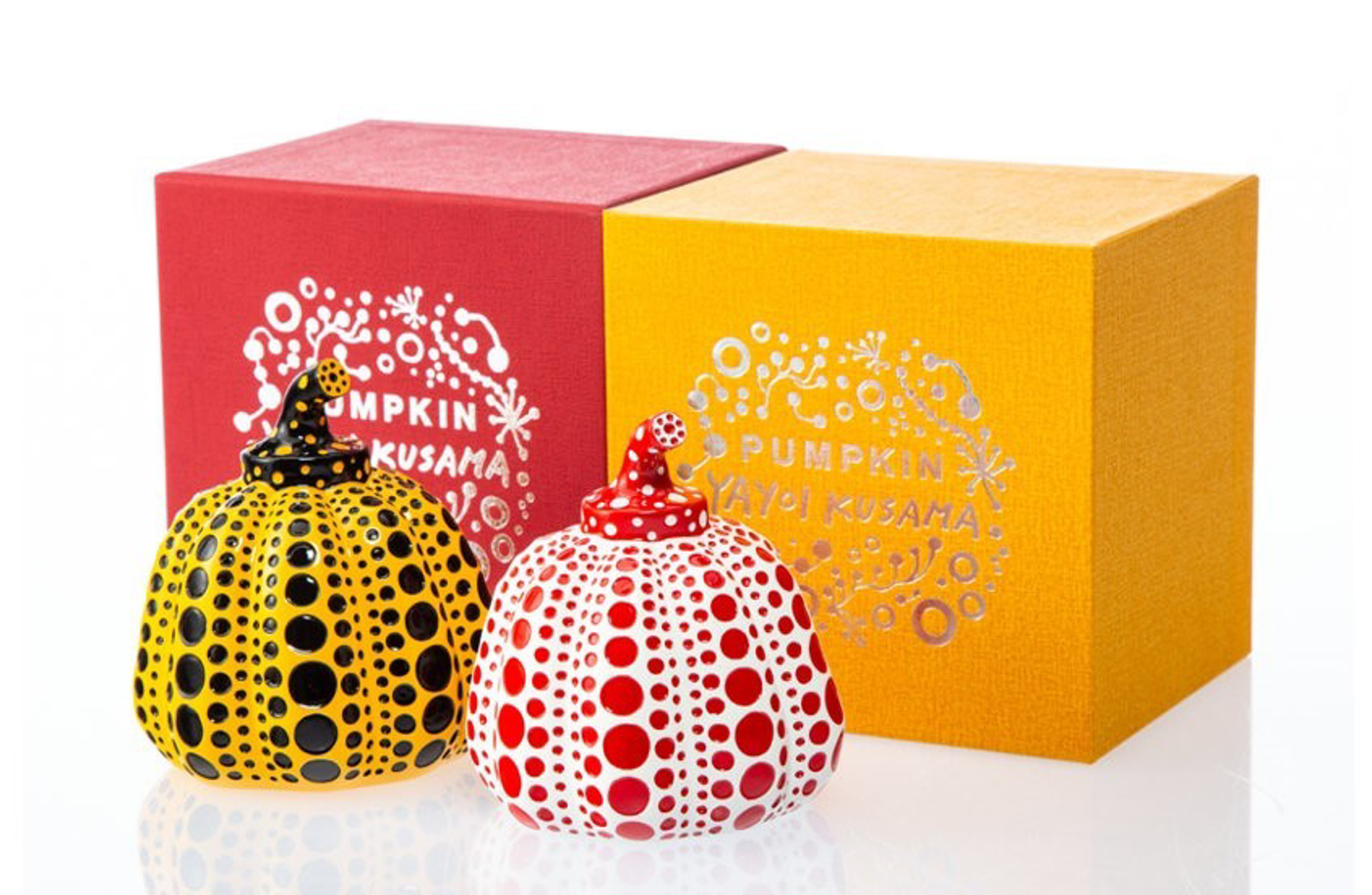 Red and Yellow Pumpkin (Two Works) by Yayoi Kusama