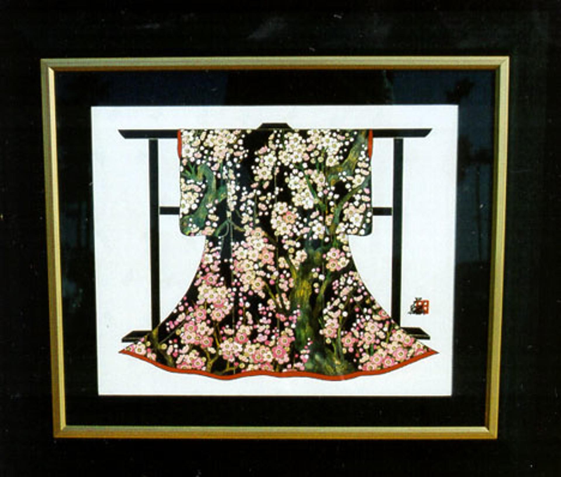 Kimono With Plum Tree by Hisashi Otsuka