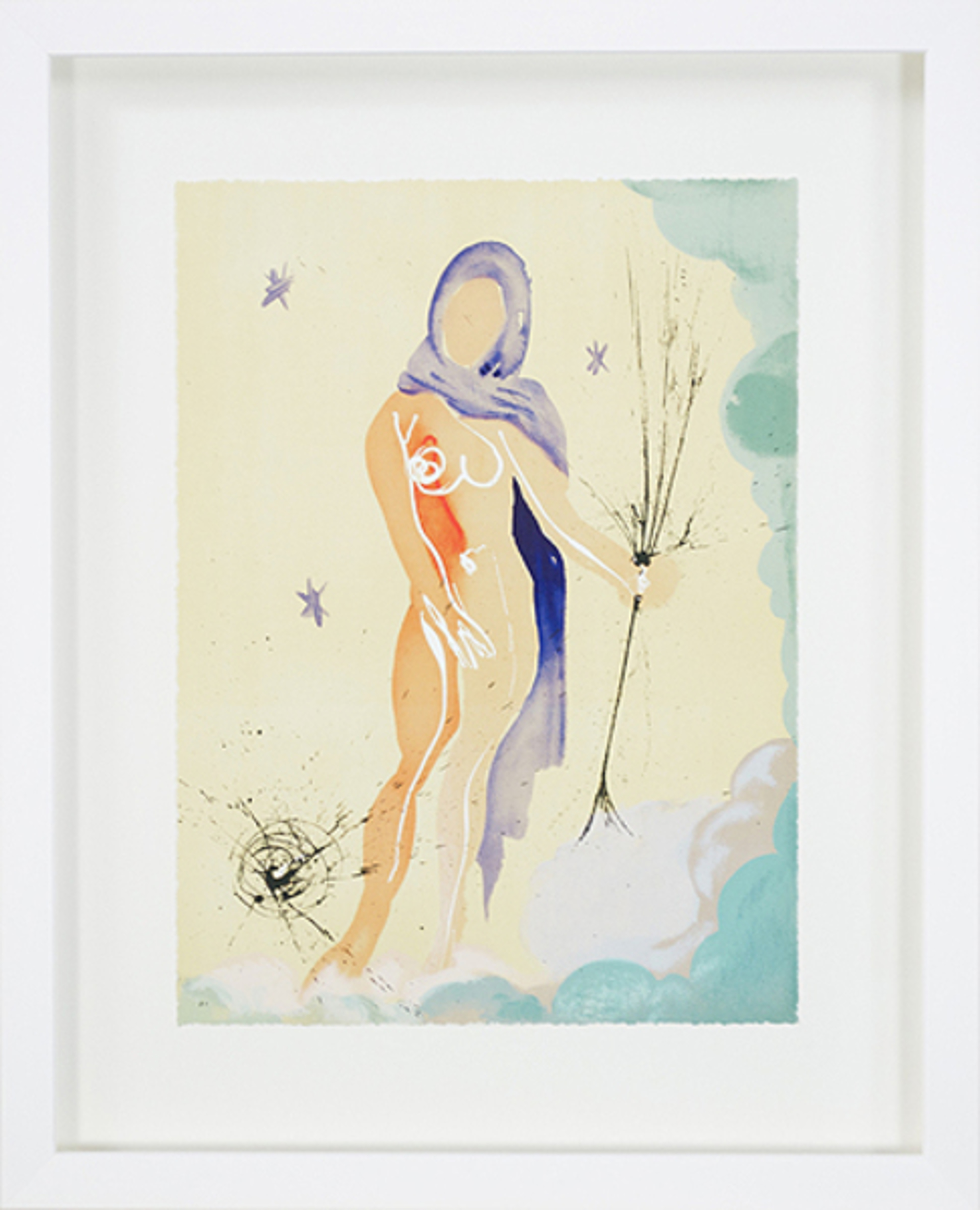 Virgo From Signs of the Zodiac Series by Salvador Dali