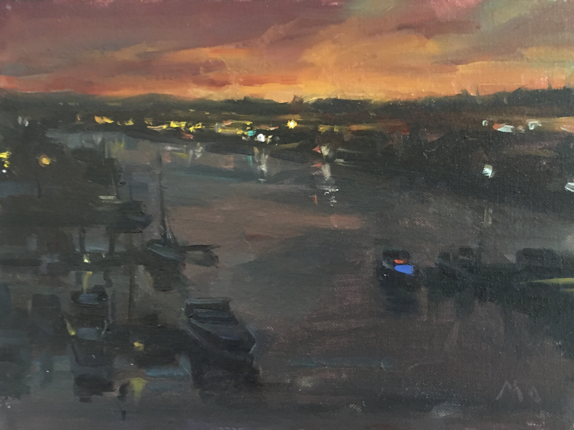 San Diego Harbor in Purple by Kyle Ma