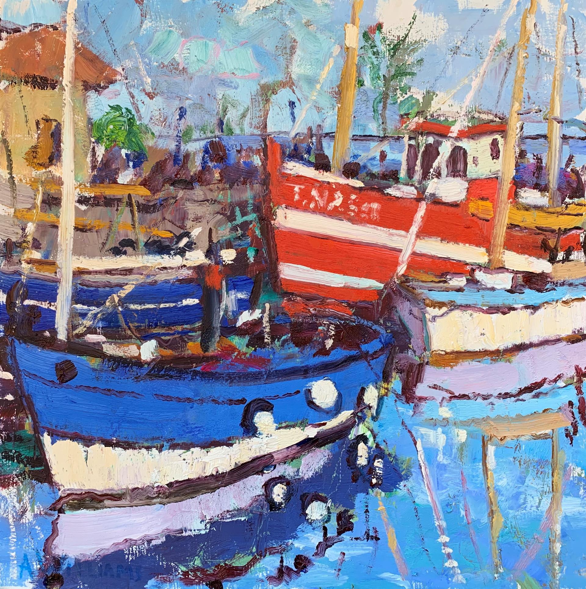 Harbor in Honfleur by Alice Williams