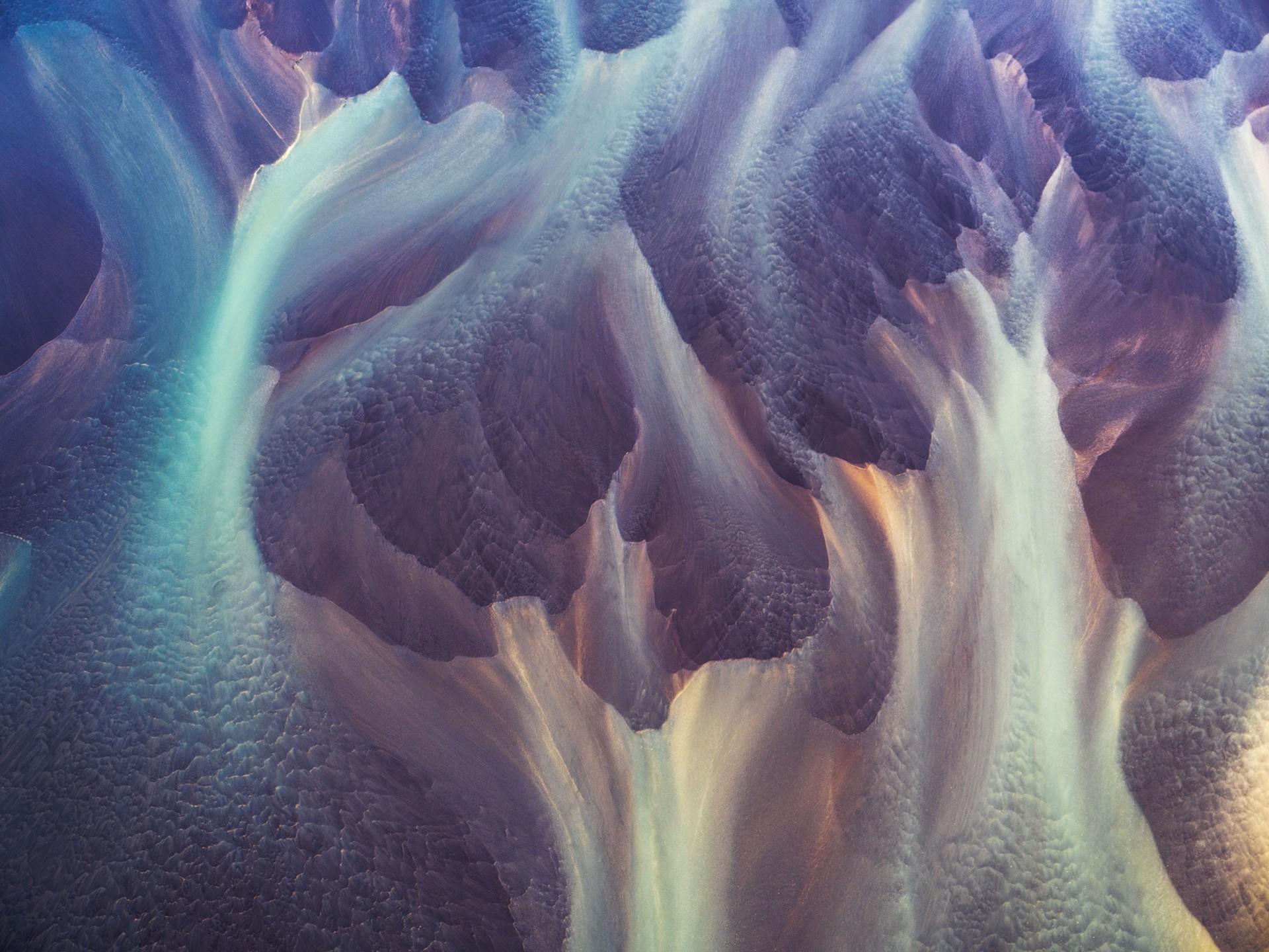 Eyes Wide Shut, Vatnajokull Glacier, Iceland/ Aerial Photo  Ed 1/10 by Dinesh Boaz