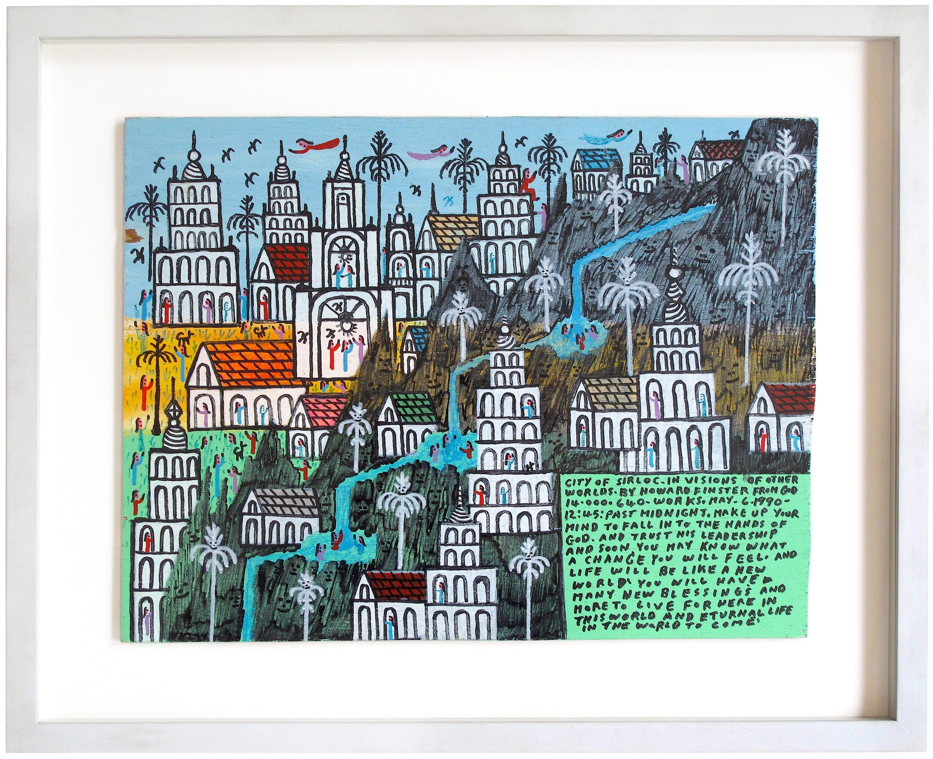 City of Sirloc by Howard Finster