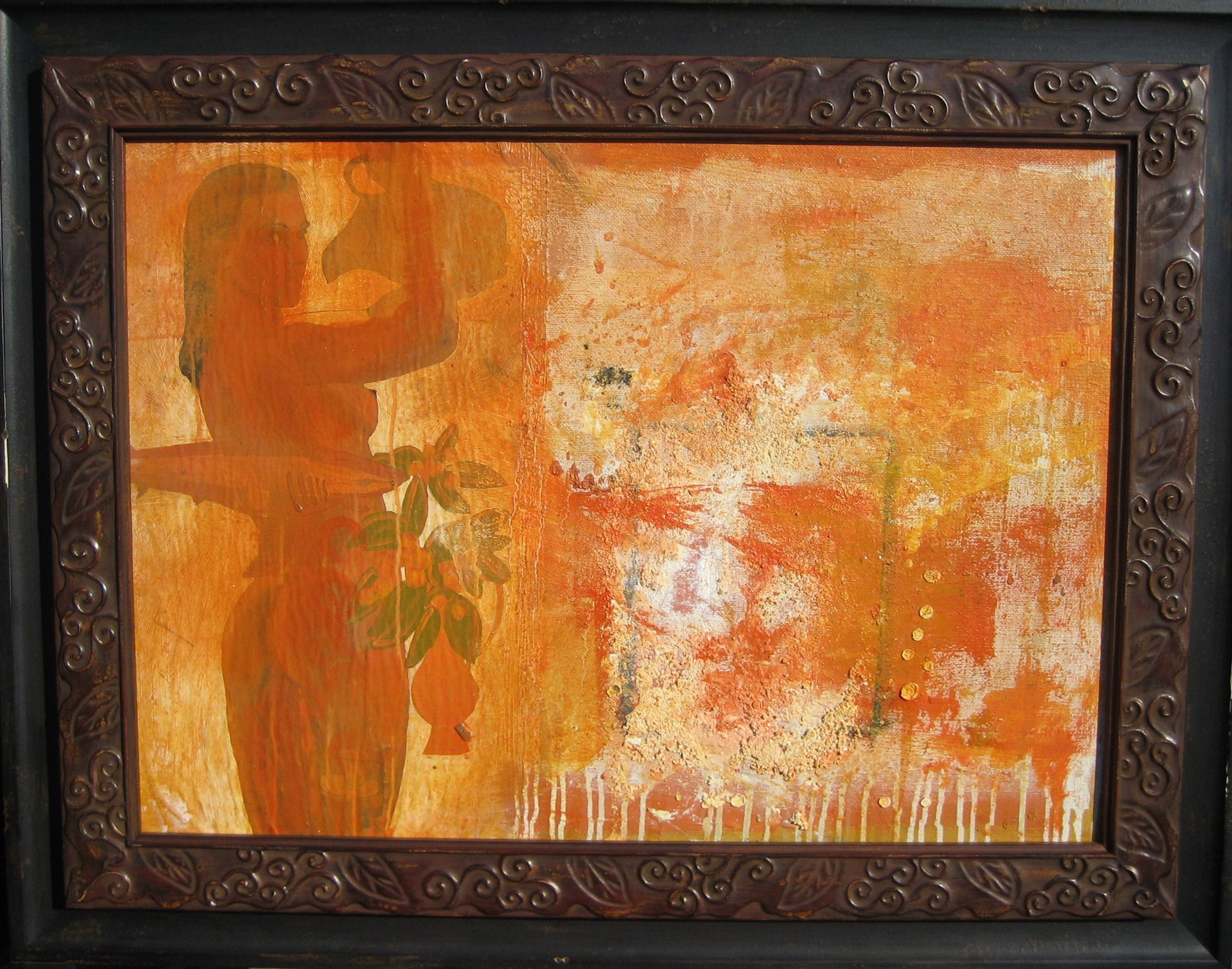Frau mit Kanne...Belebt die Sinne Woman with Pitcher...Revive the Senses by Hans Joerg Fuerpass