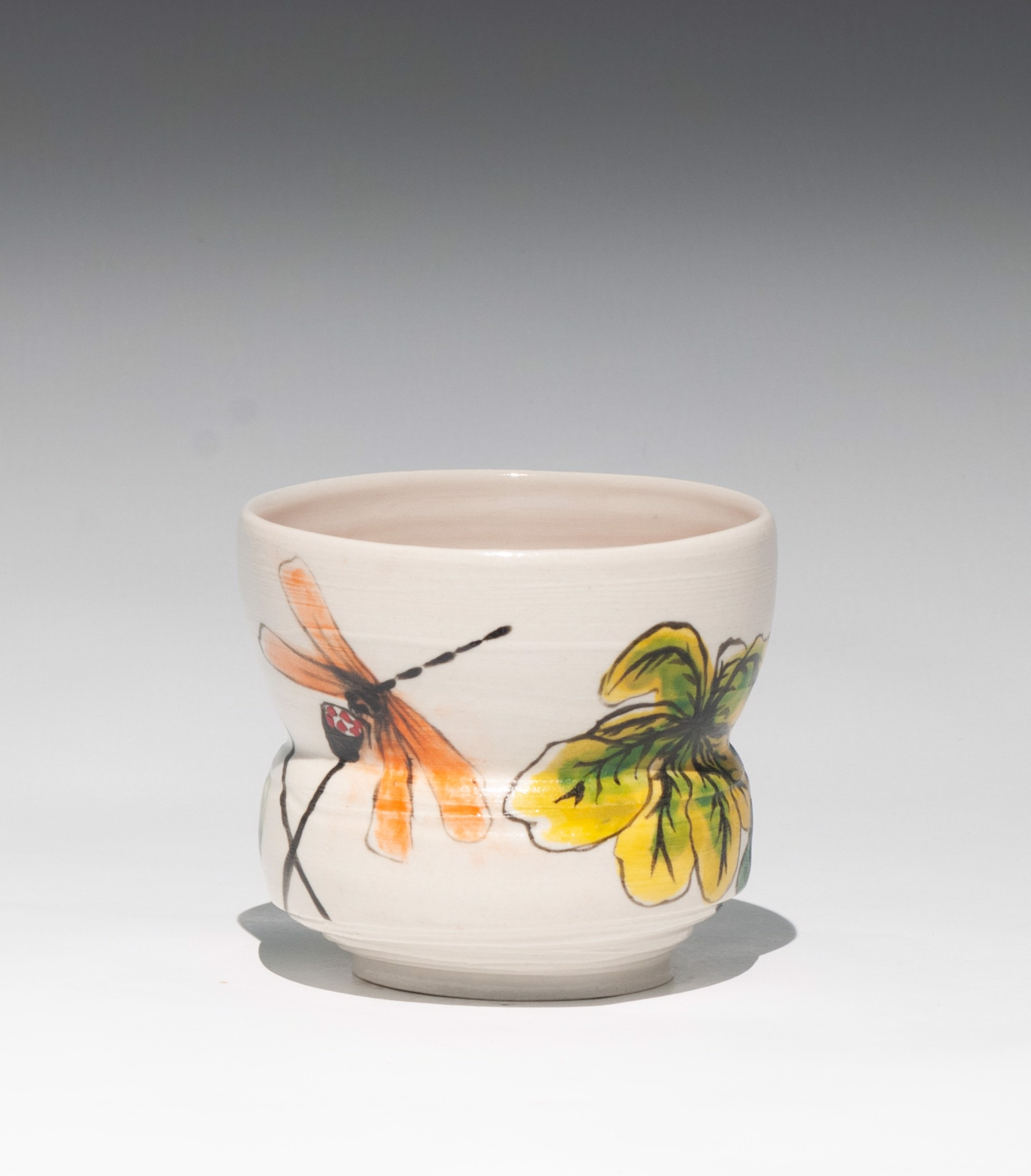 Insect Tea Bowl 12 by Caroline Bottom Anderson