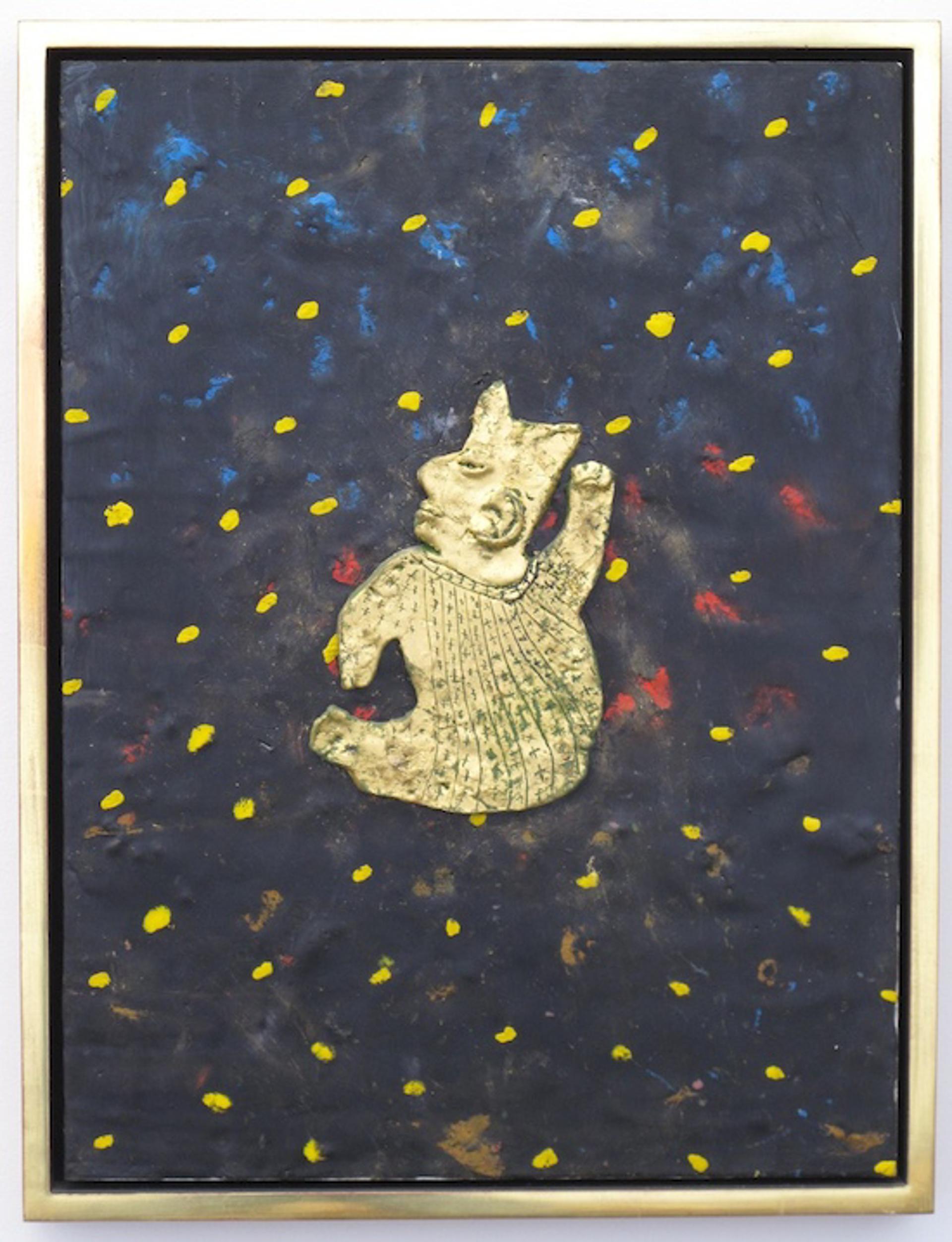 Gold Artifact with Dark Blue Night Sky by James Havard