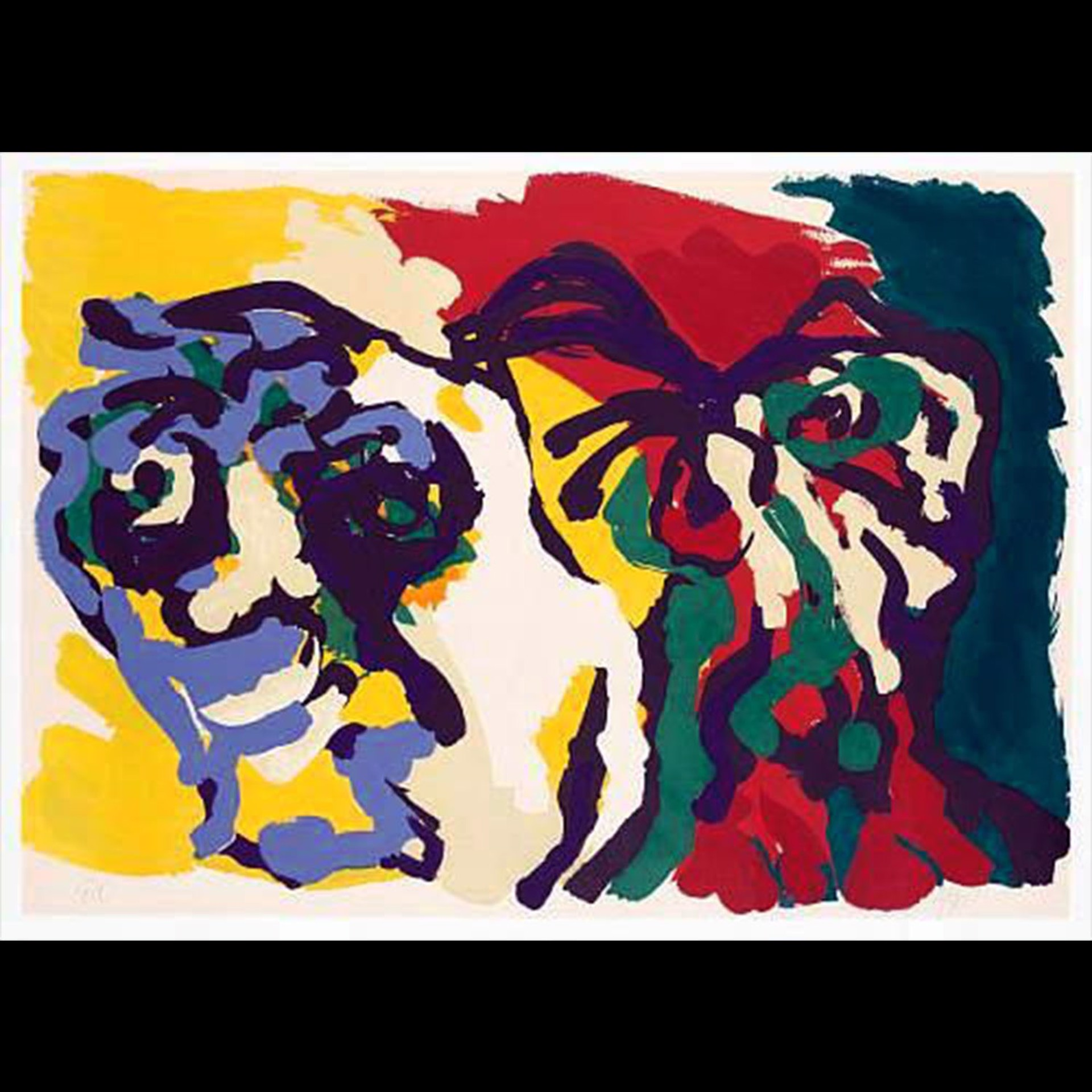 Two Flowering Heads by Karel Appel