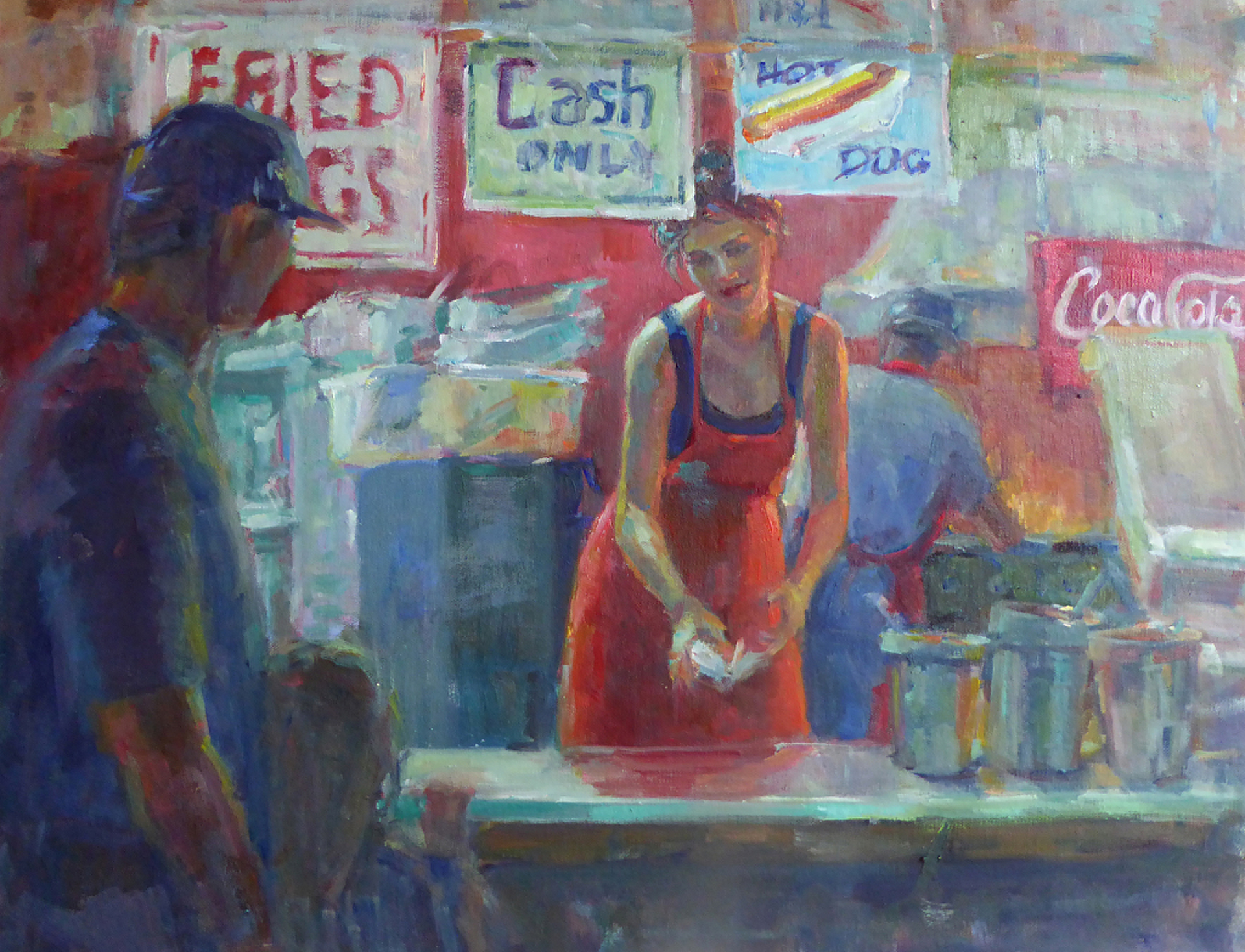 Hot Dogs and a Coke  by Nicole White Kennedy