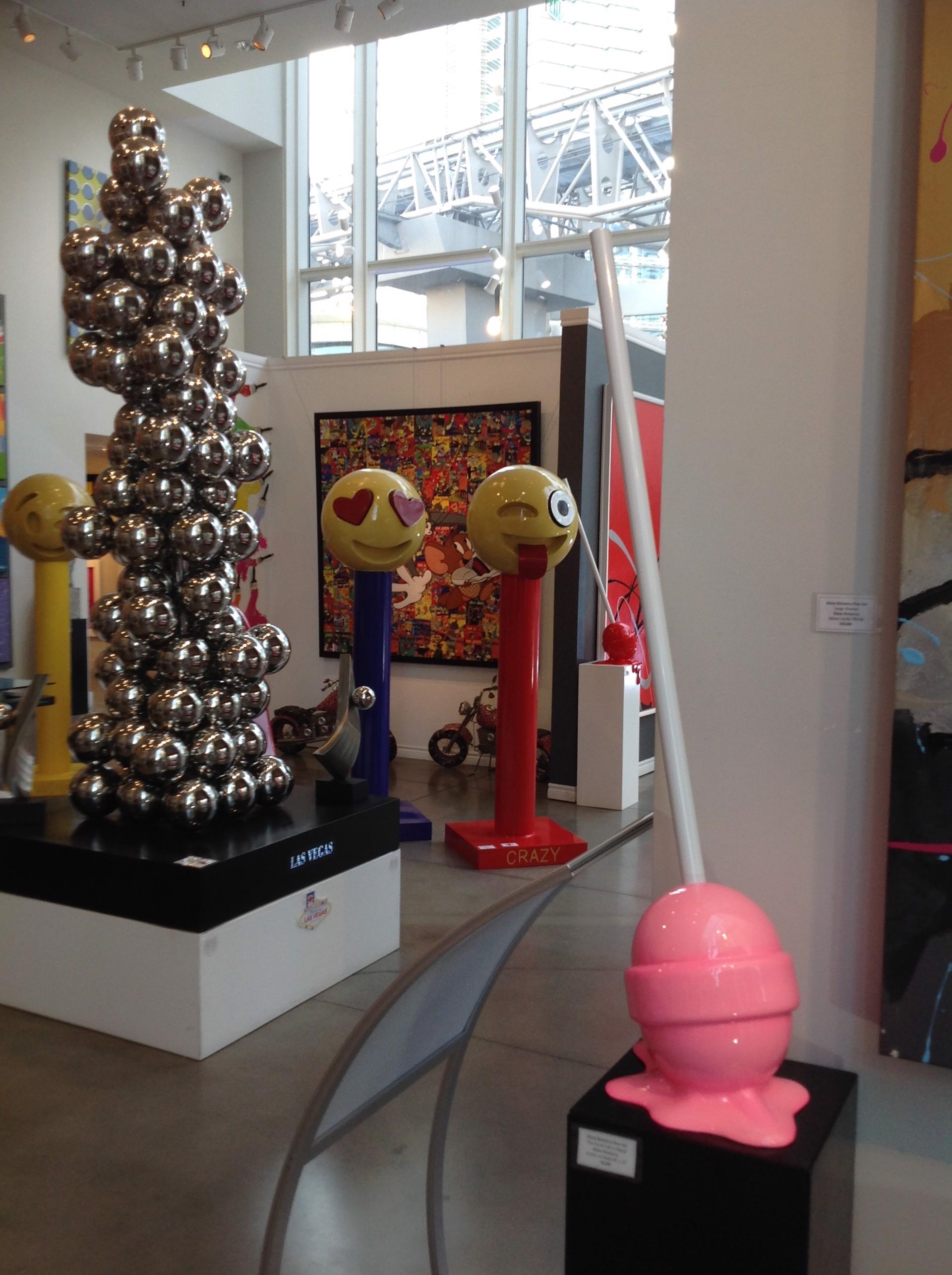 """The Sweet Life"" Medium Pink Puddle Lollipop by Elena Bulatova"