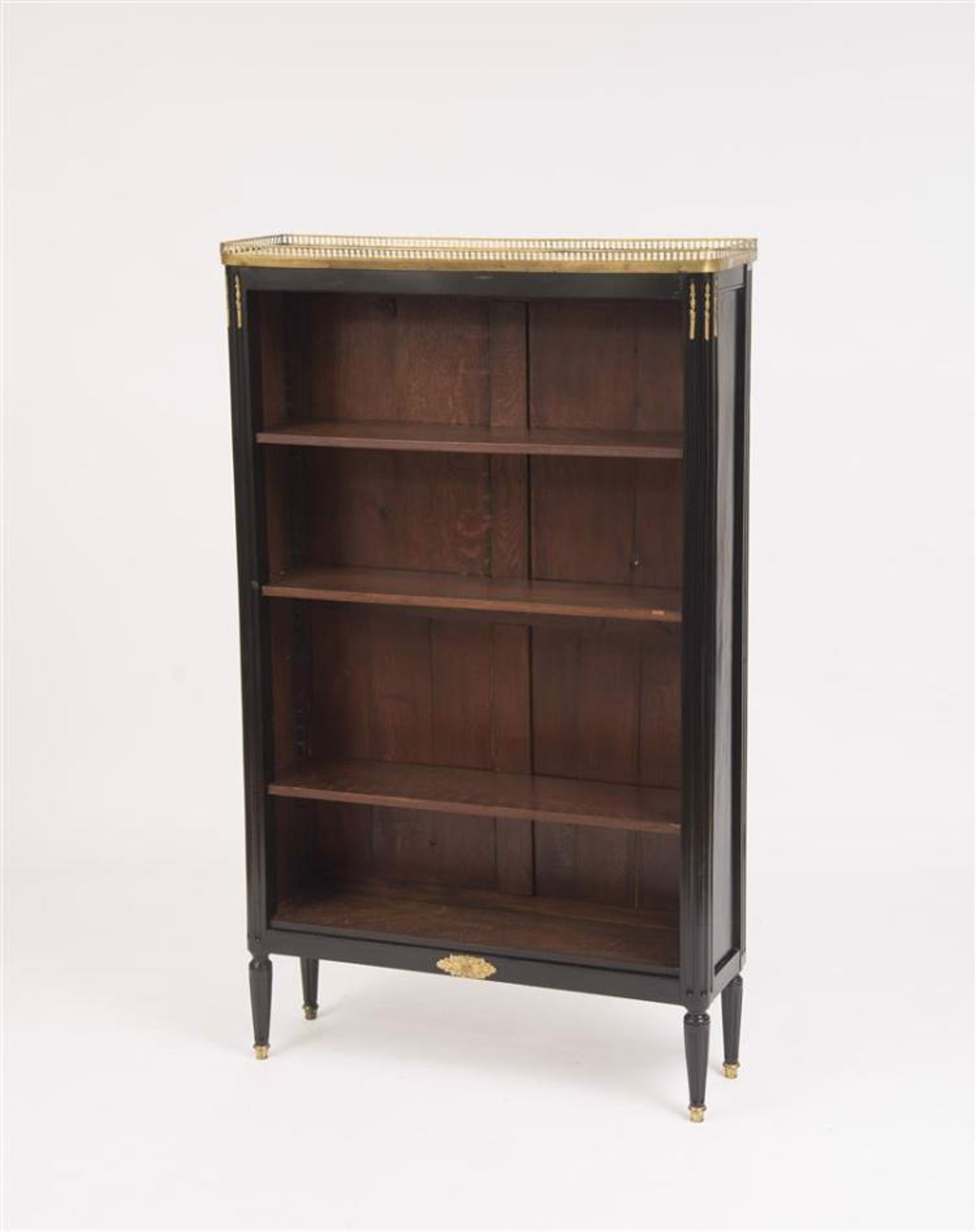 LOUIS XVI STYLE BOOKCASE WITH MARBLE TOP