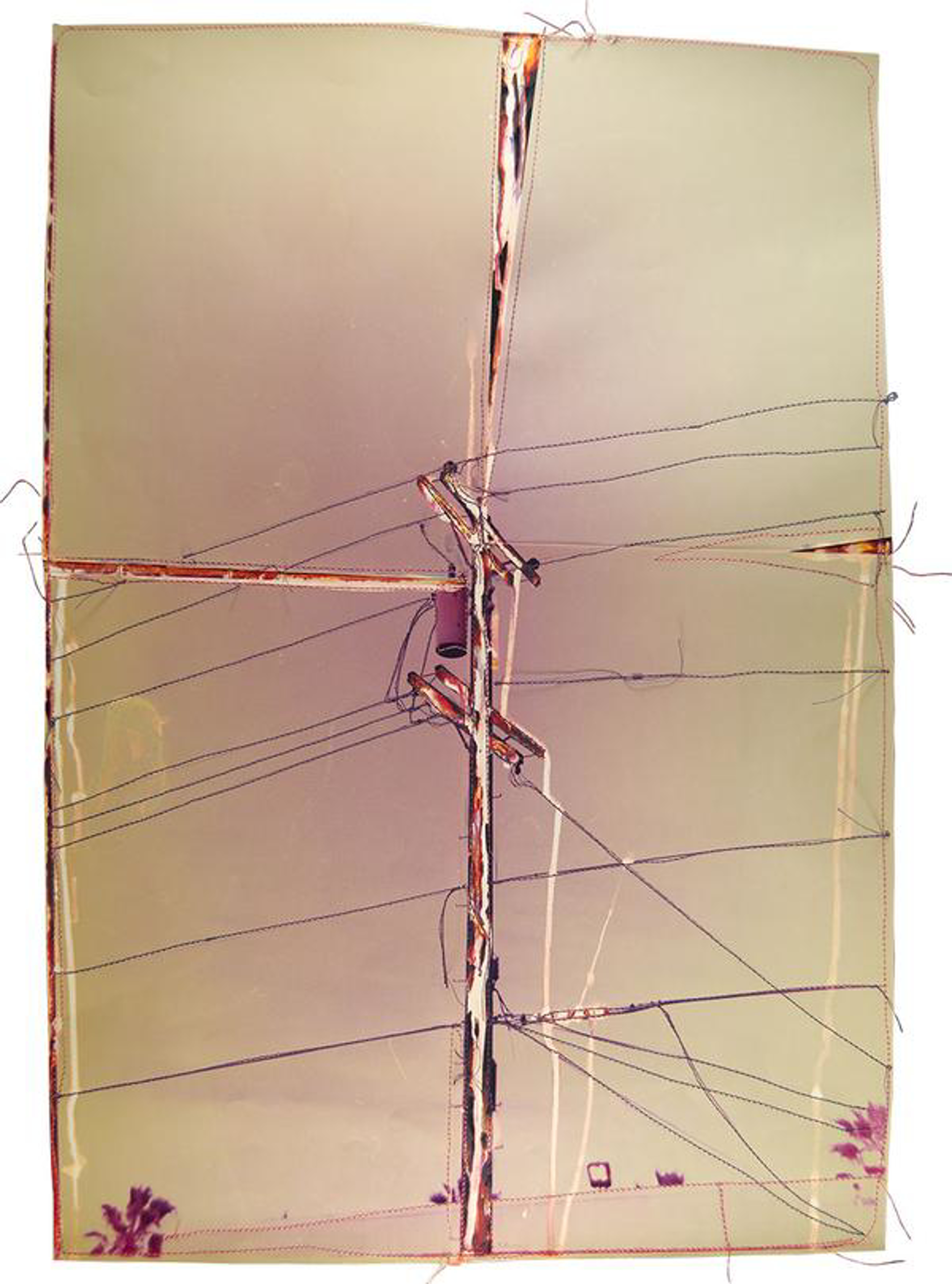 Untitled (Purple Power Line Assembled) by Andrew Thompson