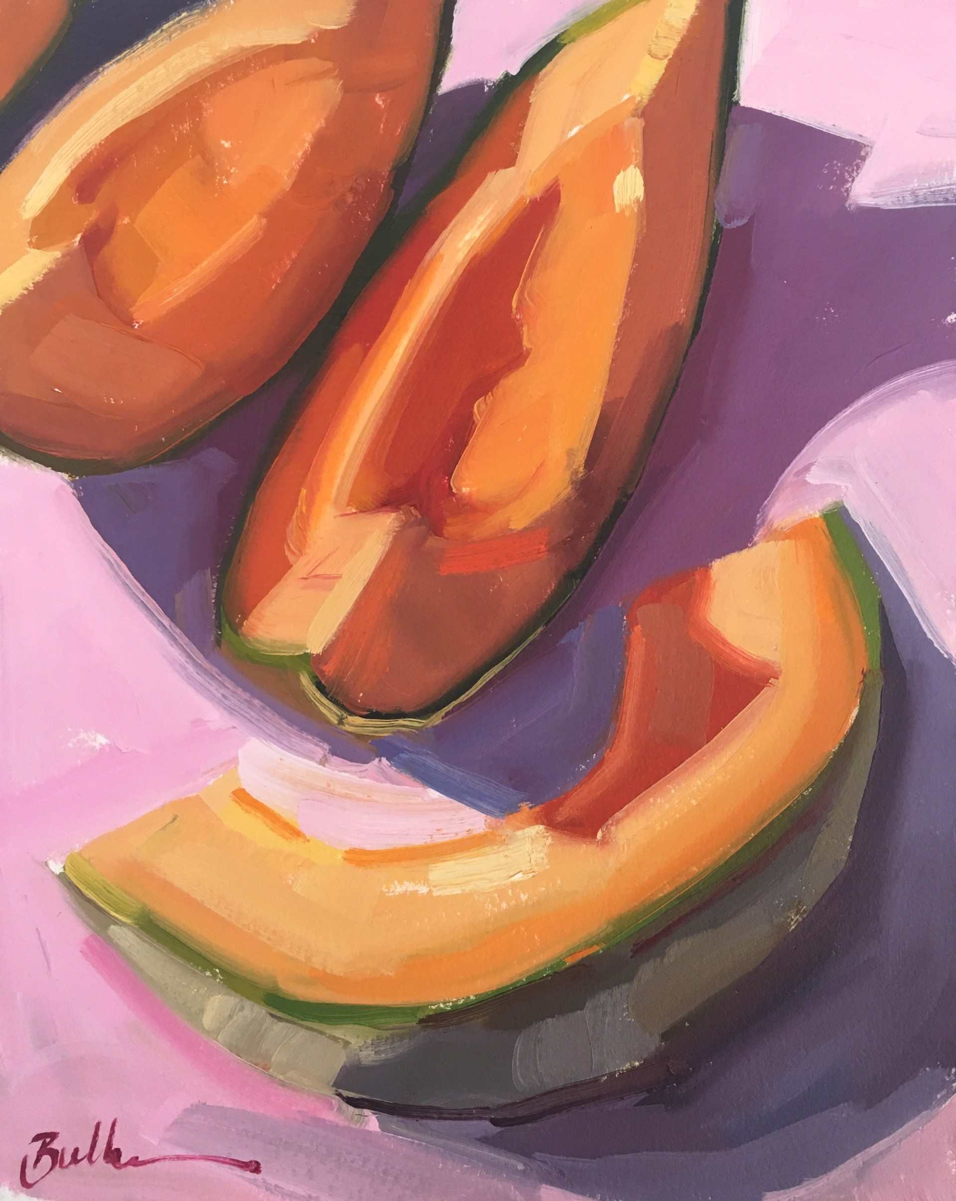 Melon on Pink by Samantha Buller