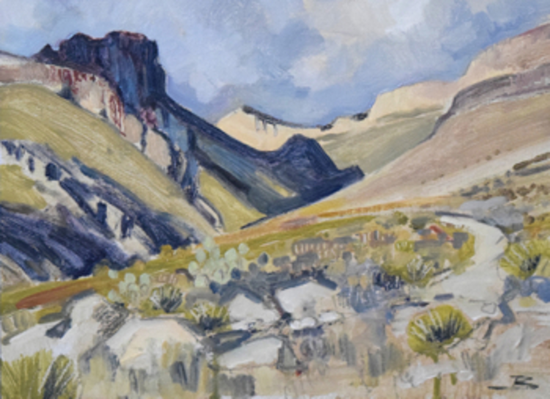 Study for Shurmard Canyon by Mary Baxter