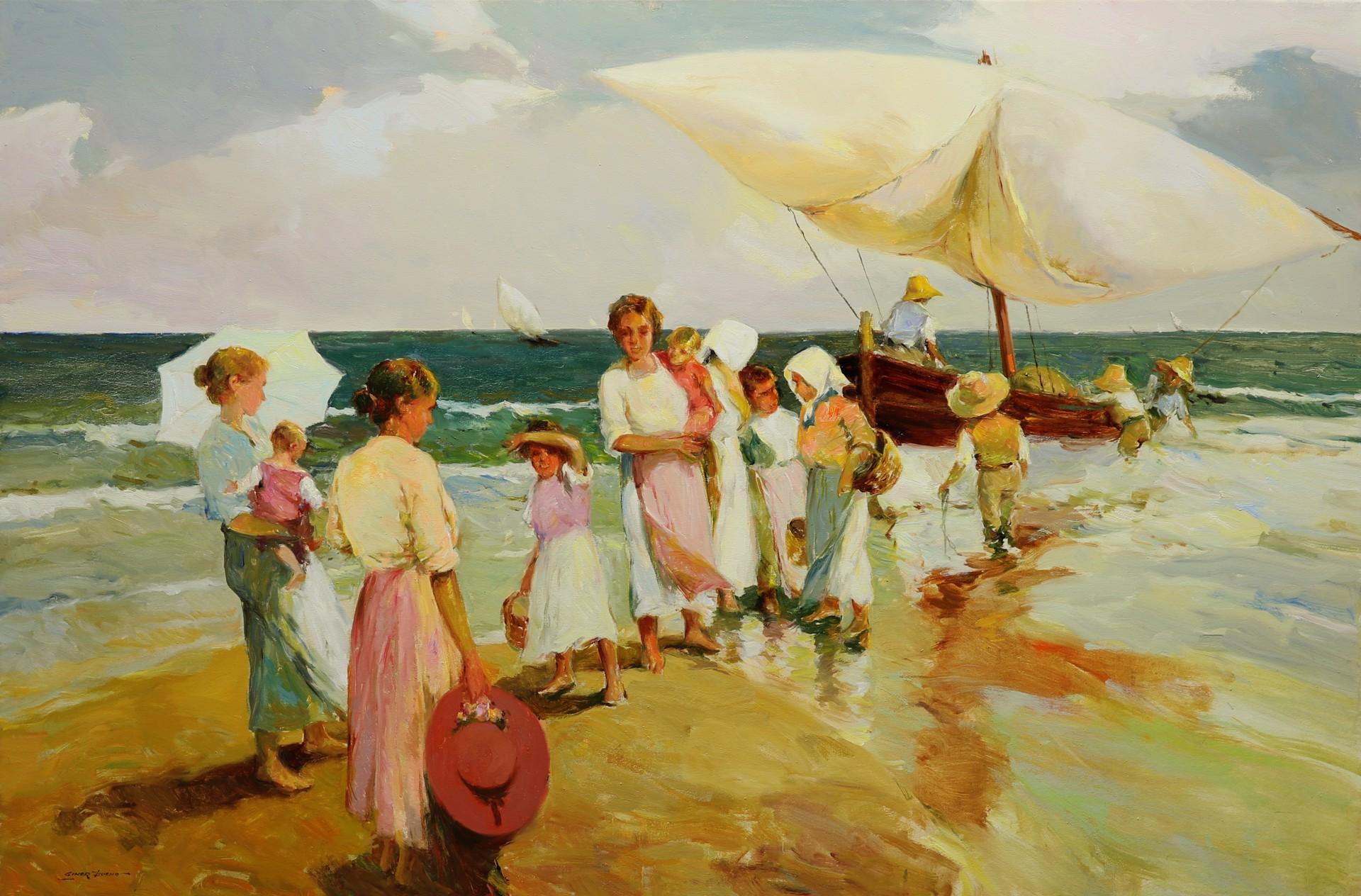 Llegada a la Playa (Arrival at the Beach) by Giner Bueno