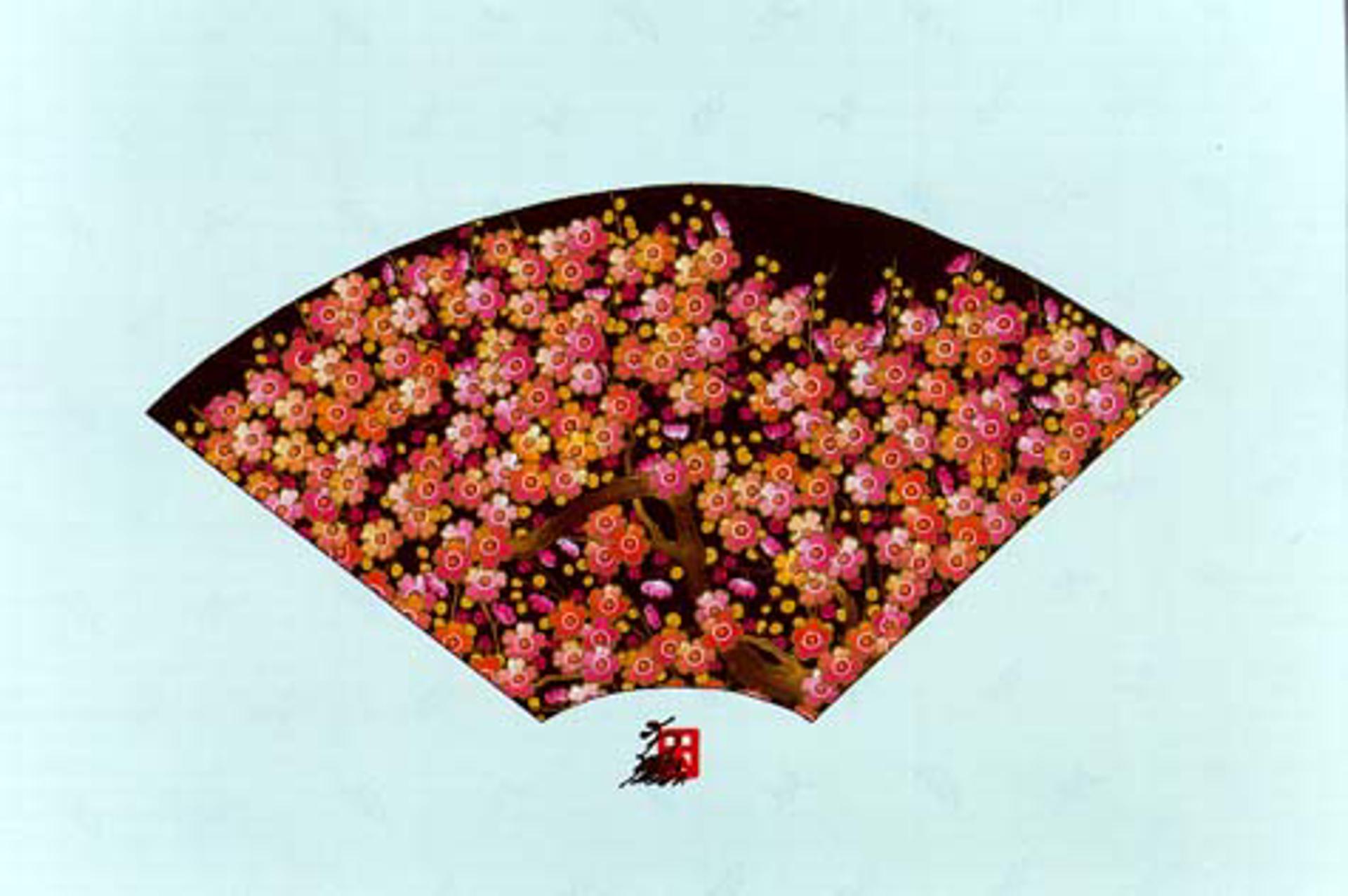 Fan W/ Plum Blossoms by Hisashi Otsuka
