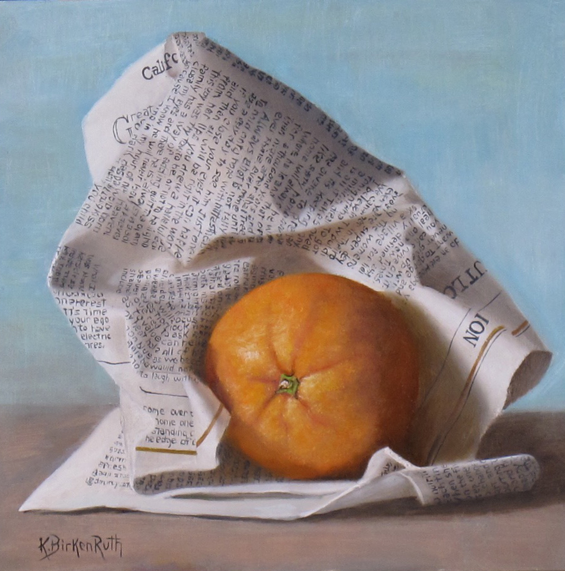 Wrapped Orange by Kelly Birkenruth