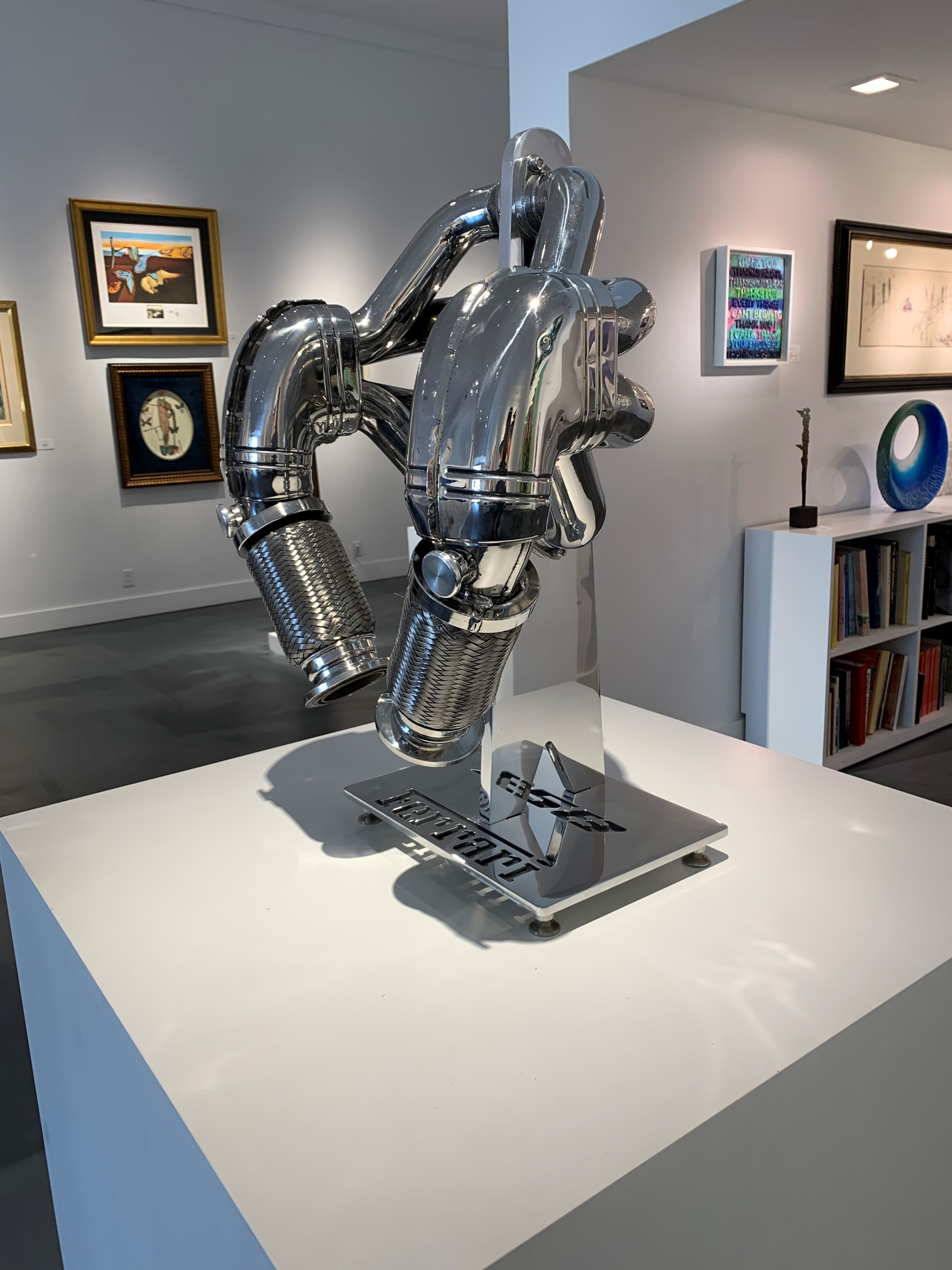 Manifold standing sculpture  by Tom Bates