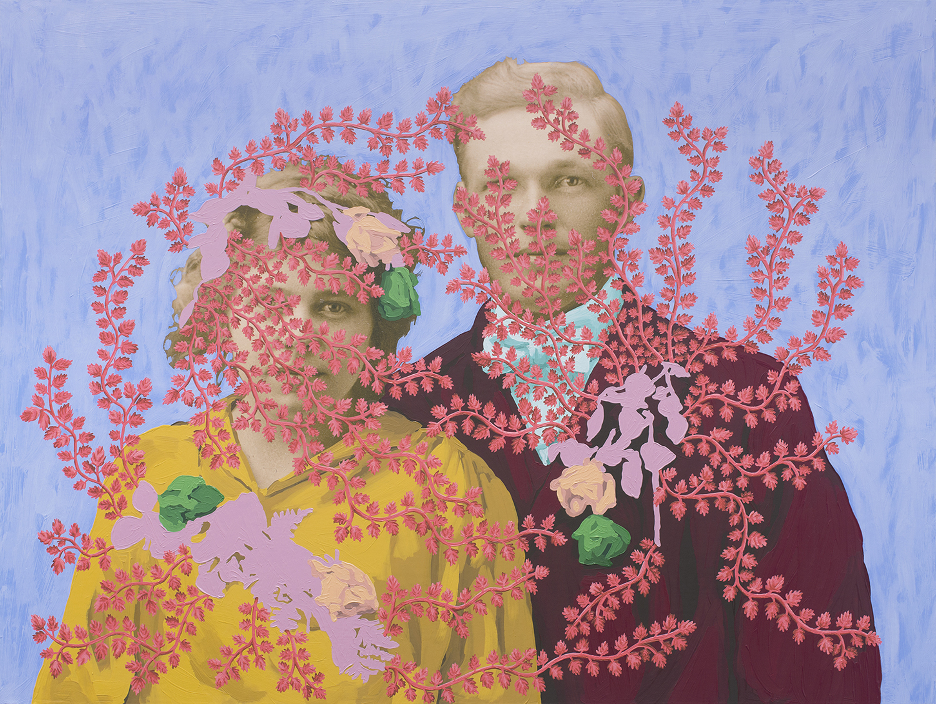 Untitled (Wedding Portrait with Flowers) by Daisy Patton