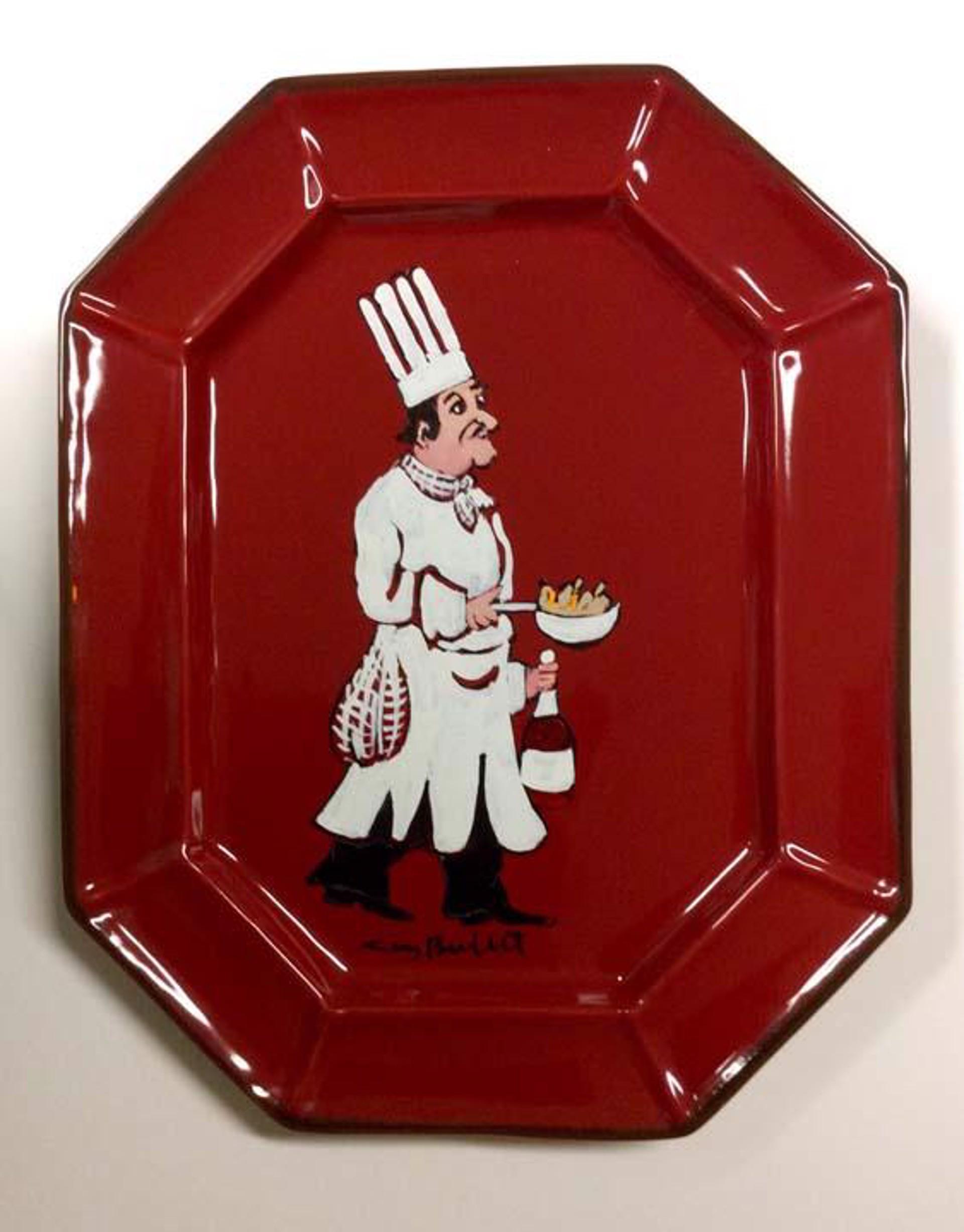 Platter (Les Champignons De Bernard - Red)* by Guy Buffet