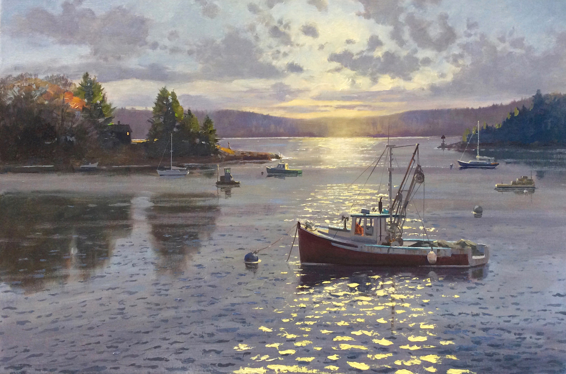 Harbor Sunrise by Thomas Adkins