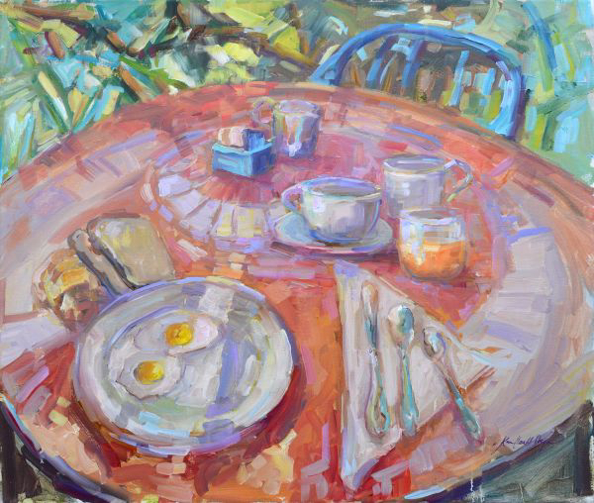 Breakfast at Lake Como by Karen Hewitt Hagan