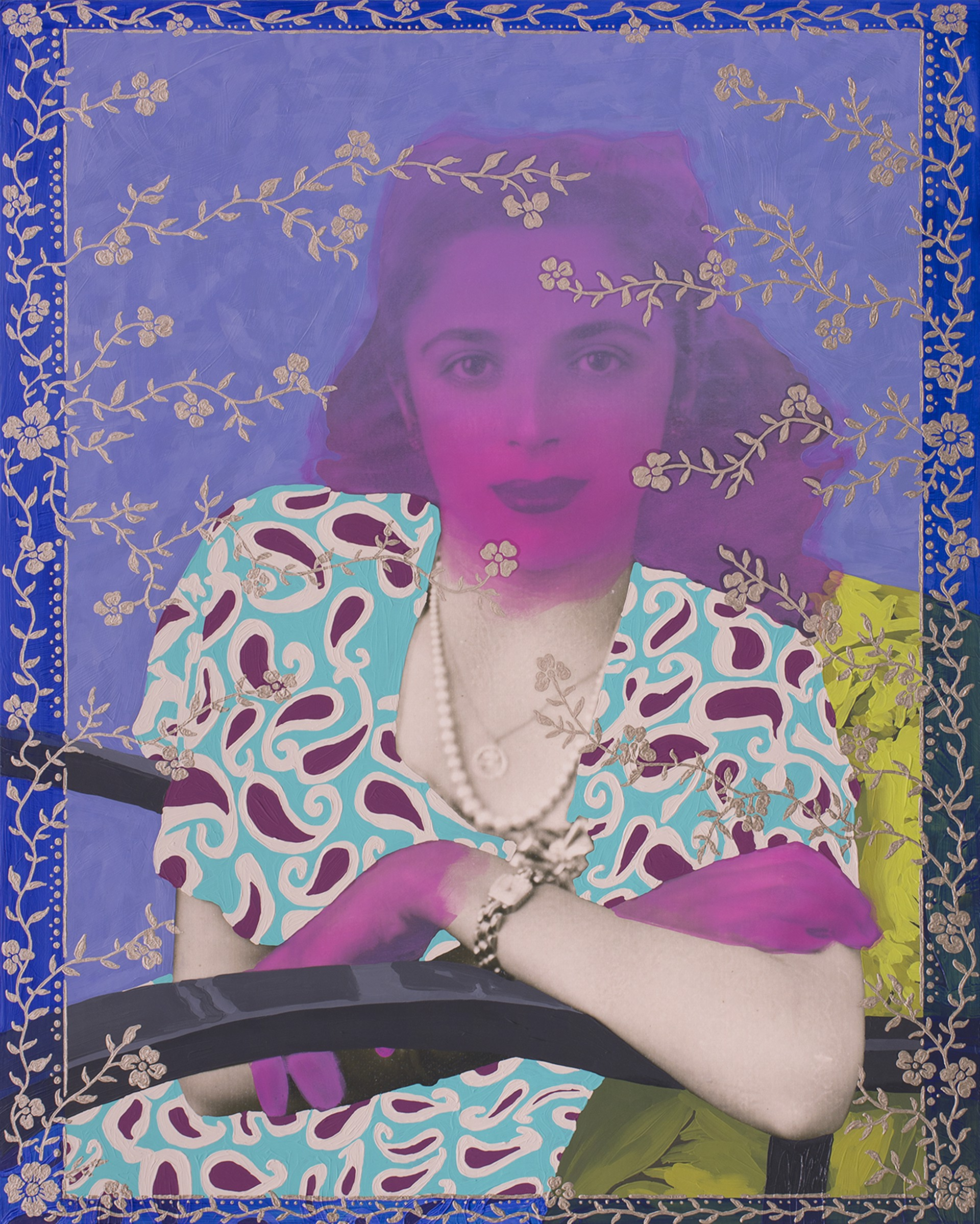 Untitled (Paisley and Border) by Daisy Patton