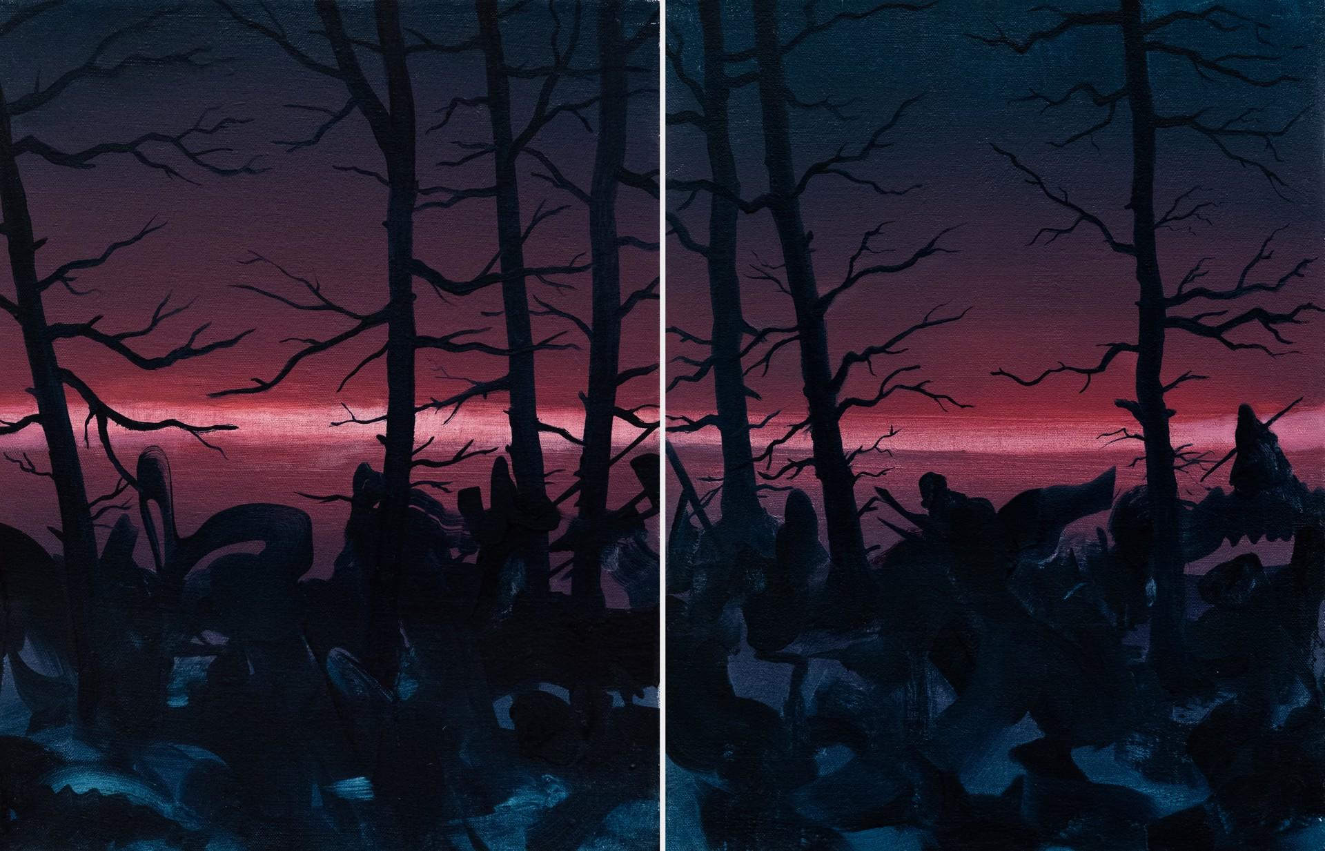 The Silencers (Diptych) by Fabricio Suarez
