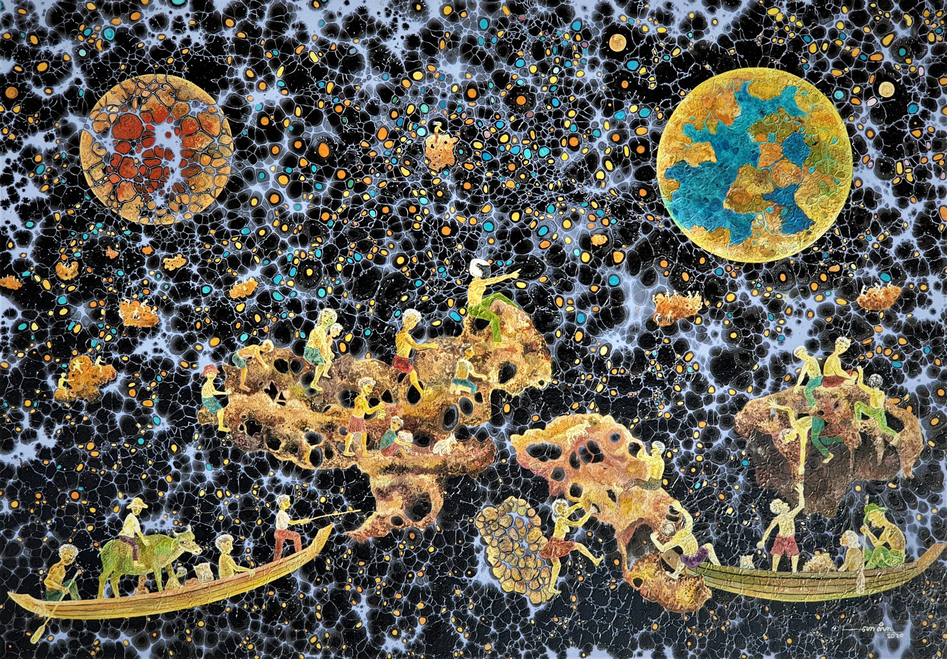 Cosmic Migrations by Seyha Hour