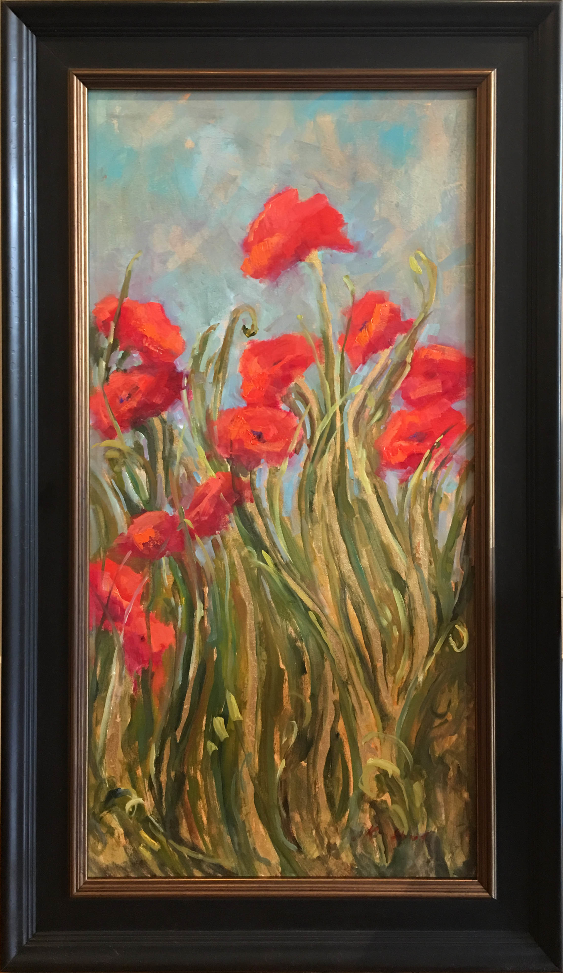 Wild Poppies in Breeze by Karen Hewitt Hagan