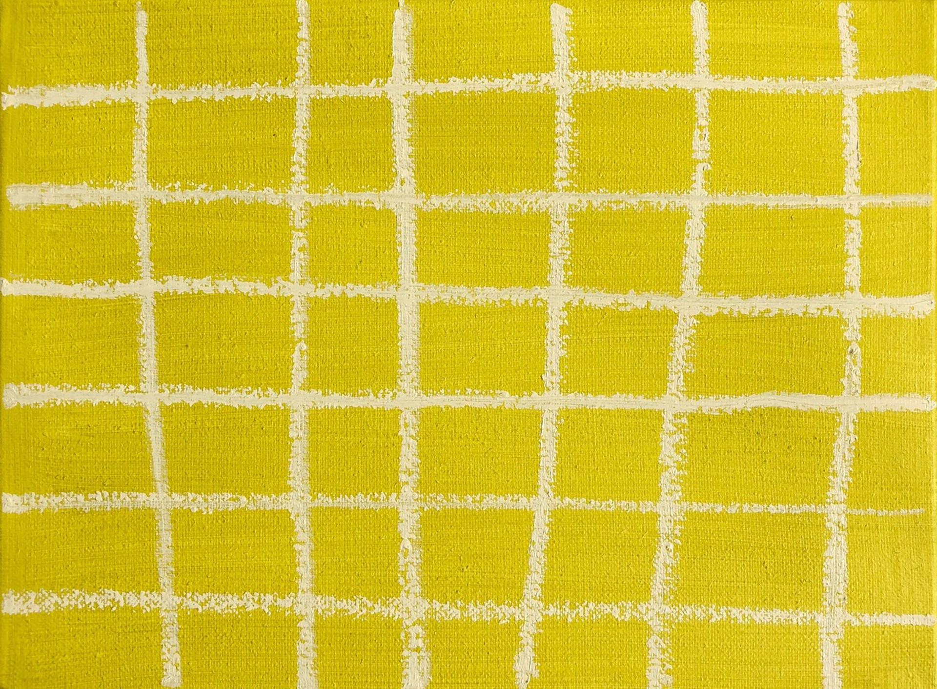 Grid in Chartreuse by Laurie Fisher
