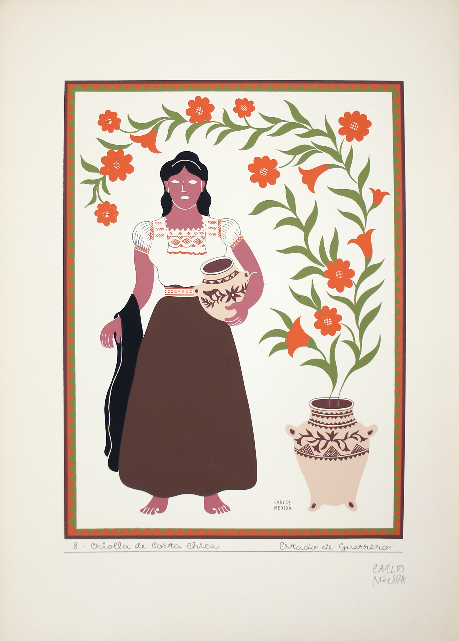 Criolla de Costa Chica, Estado de Guerrero by Carlos Mérida (1891 - 1985)