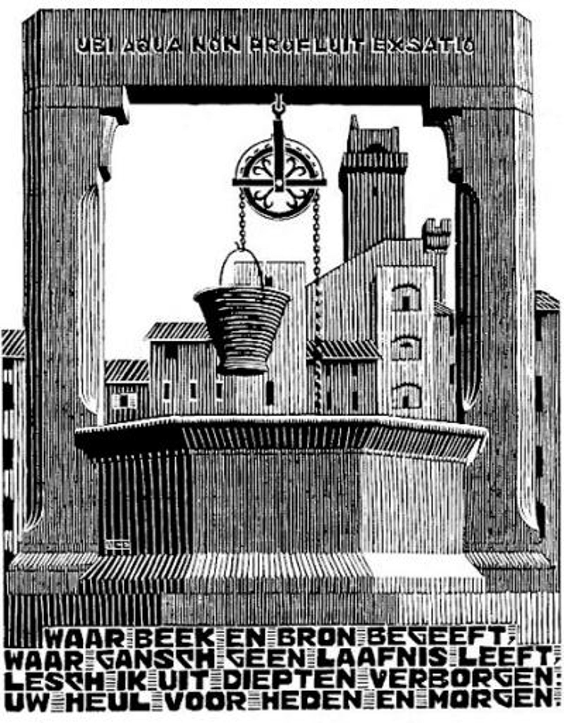 Emblemata - Well by M.C. Escher
