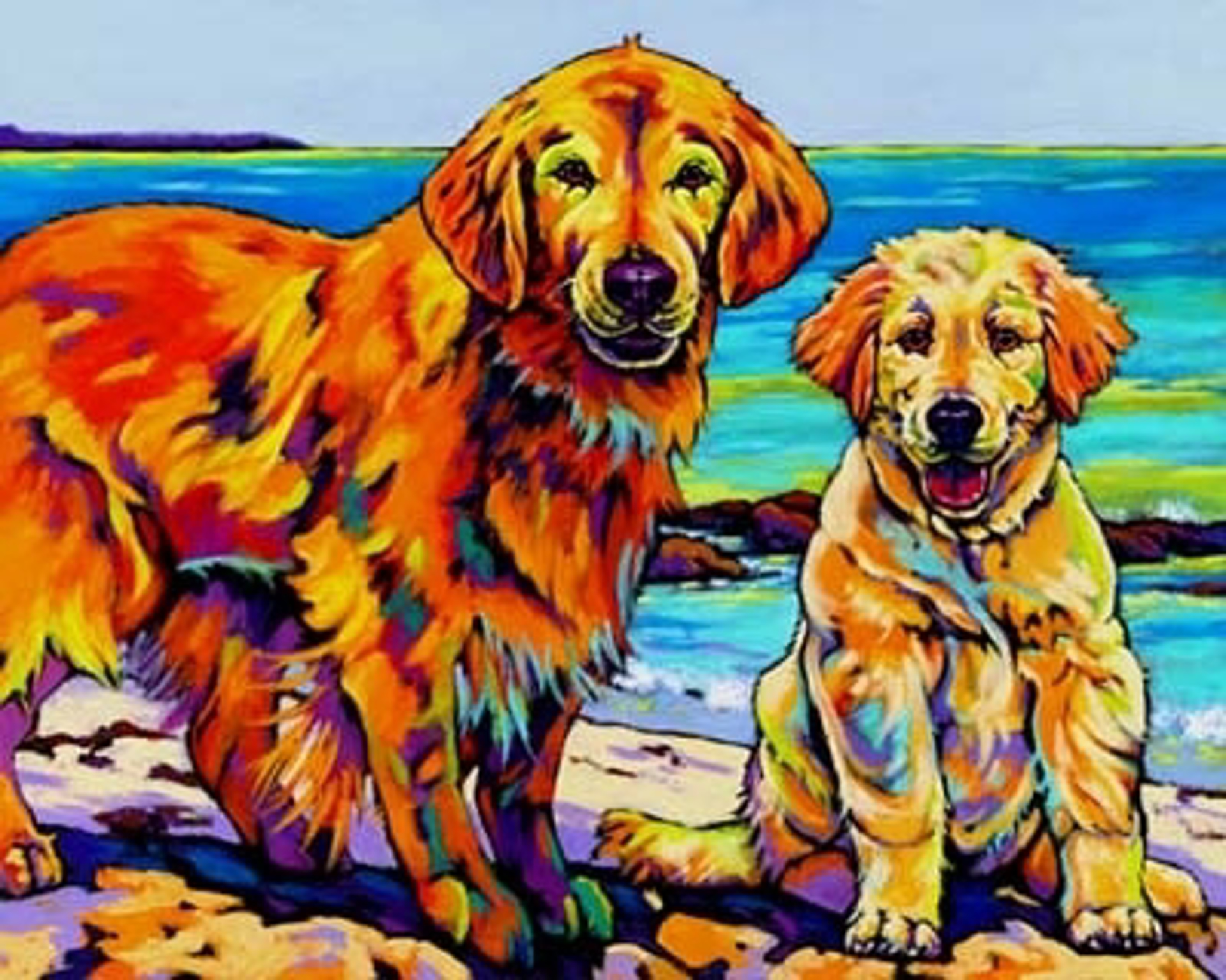 Ginger and Polar by Sally Evans -- Prints