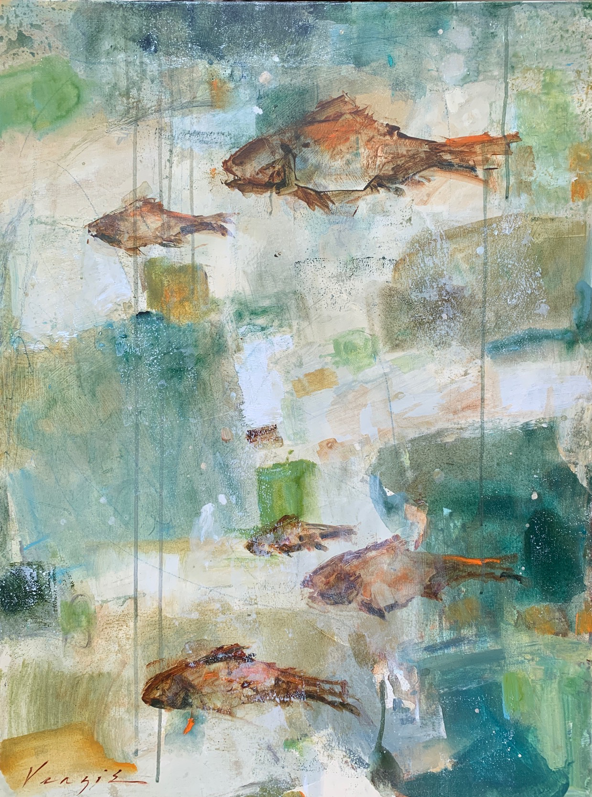Fish School by Mary Miller Veazie