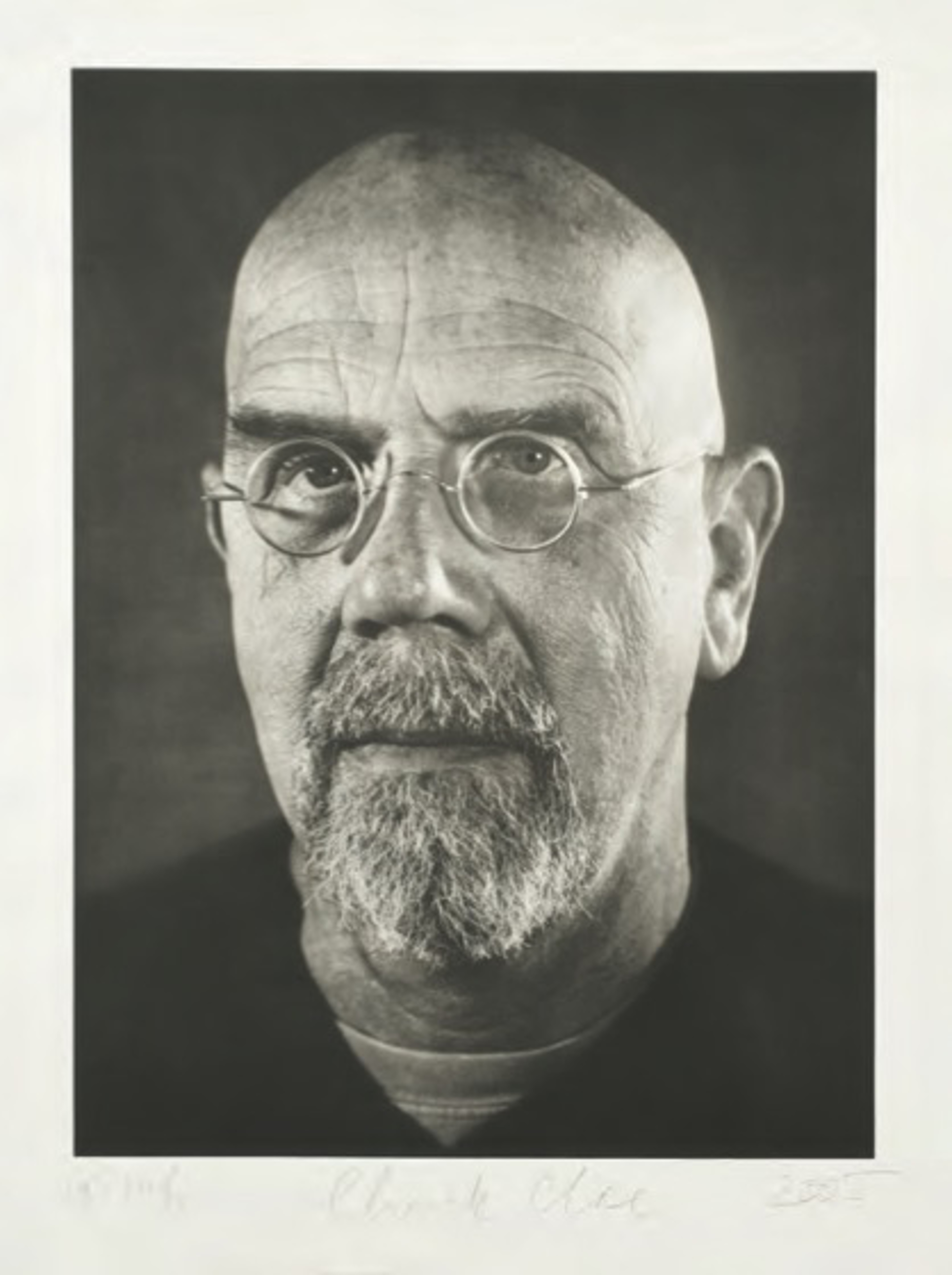 Self-Portrait/ Photogravure by Chuck Close