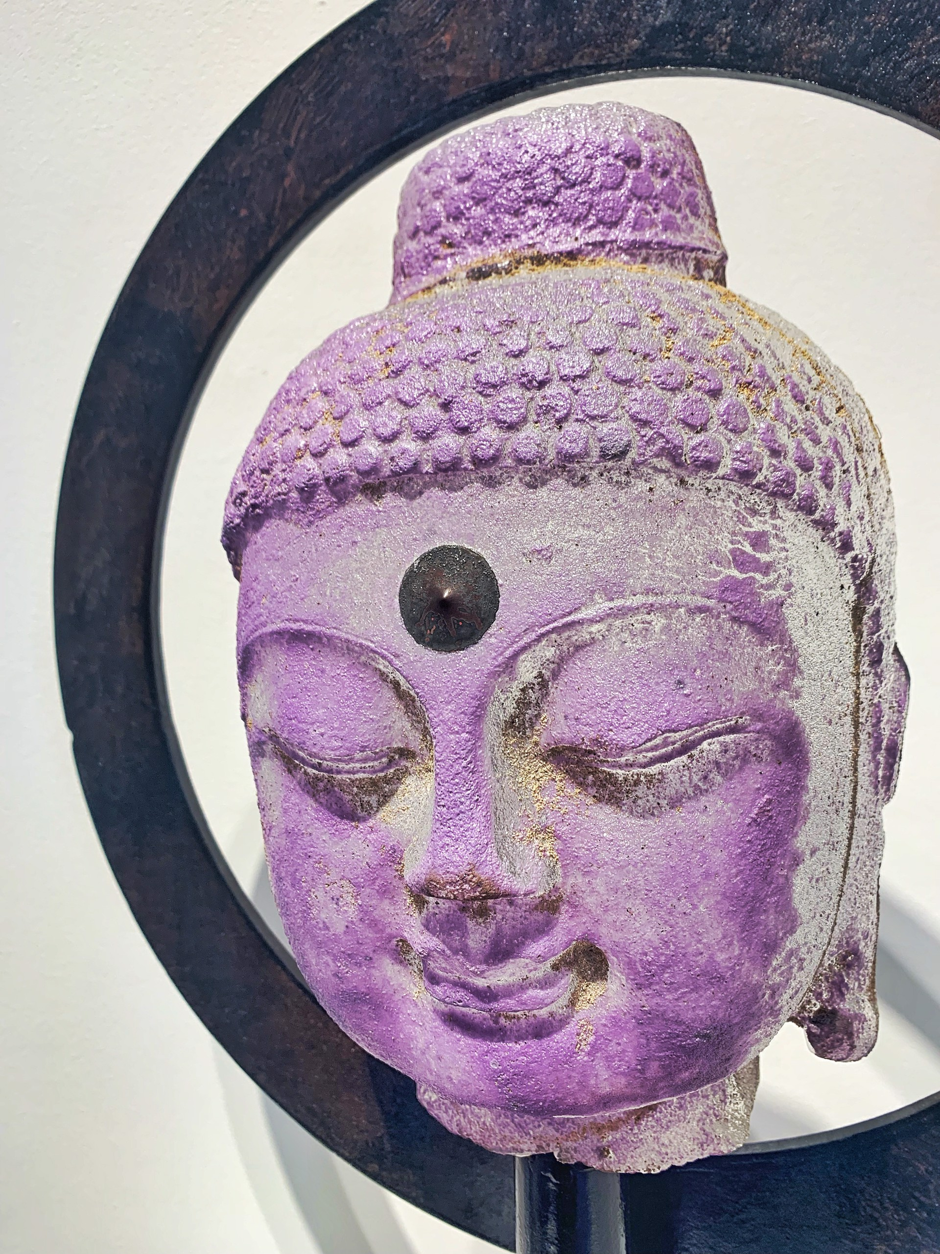 Halo Buddha - Lilac by Marlene Rose (b. 1967)