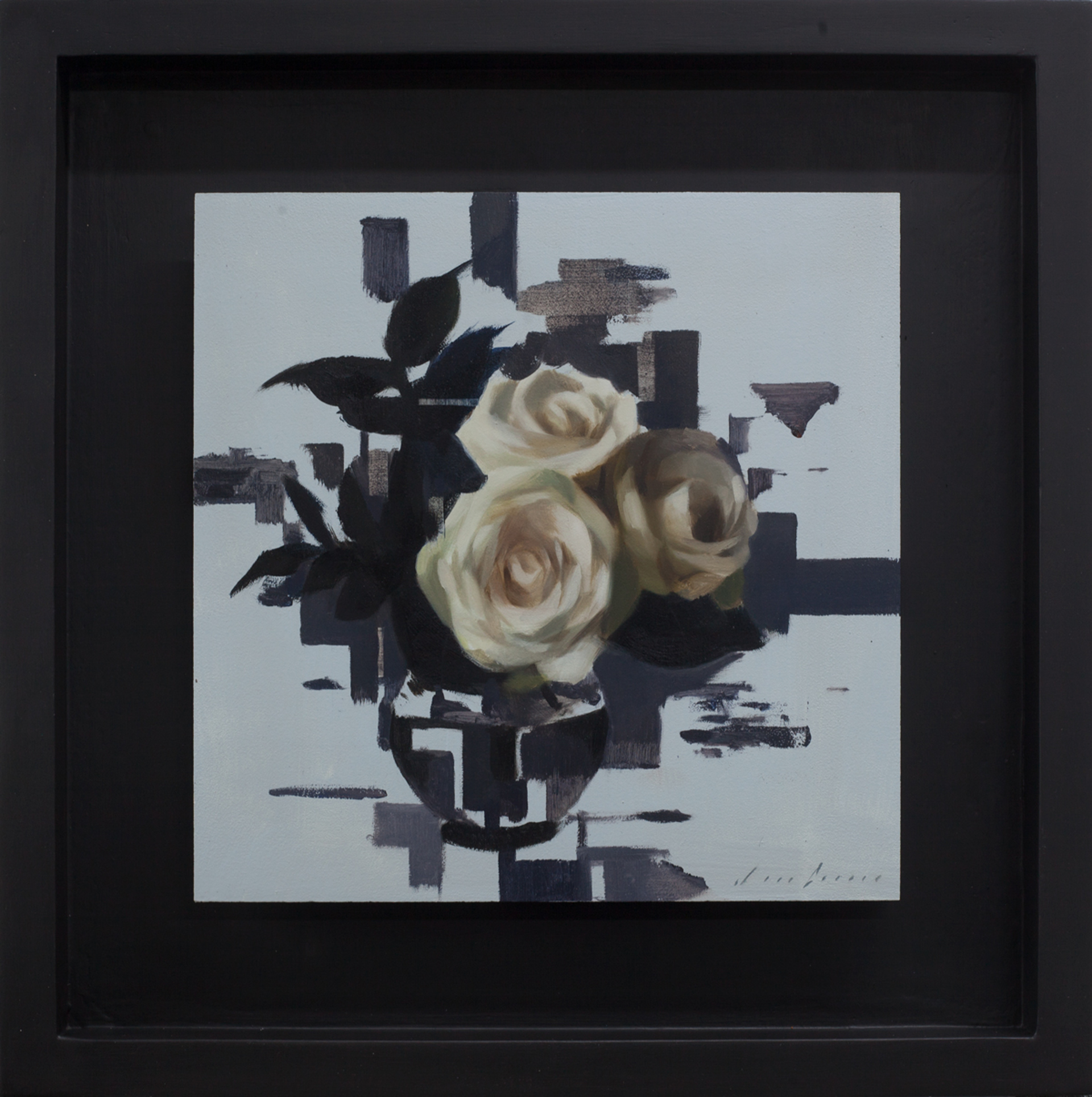 White Roses and Mauve by Jon Doran