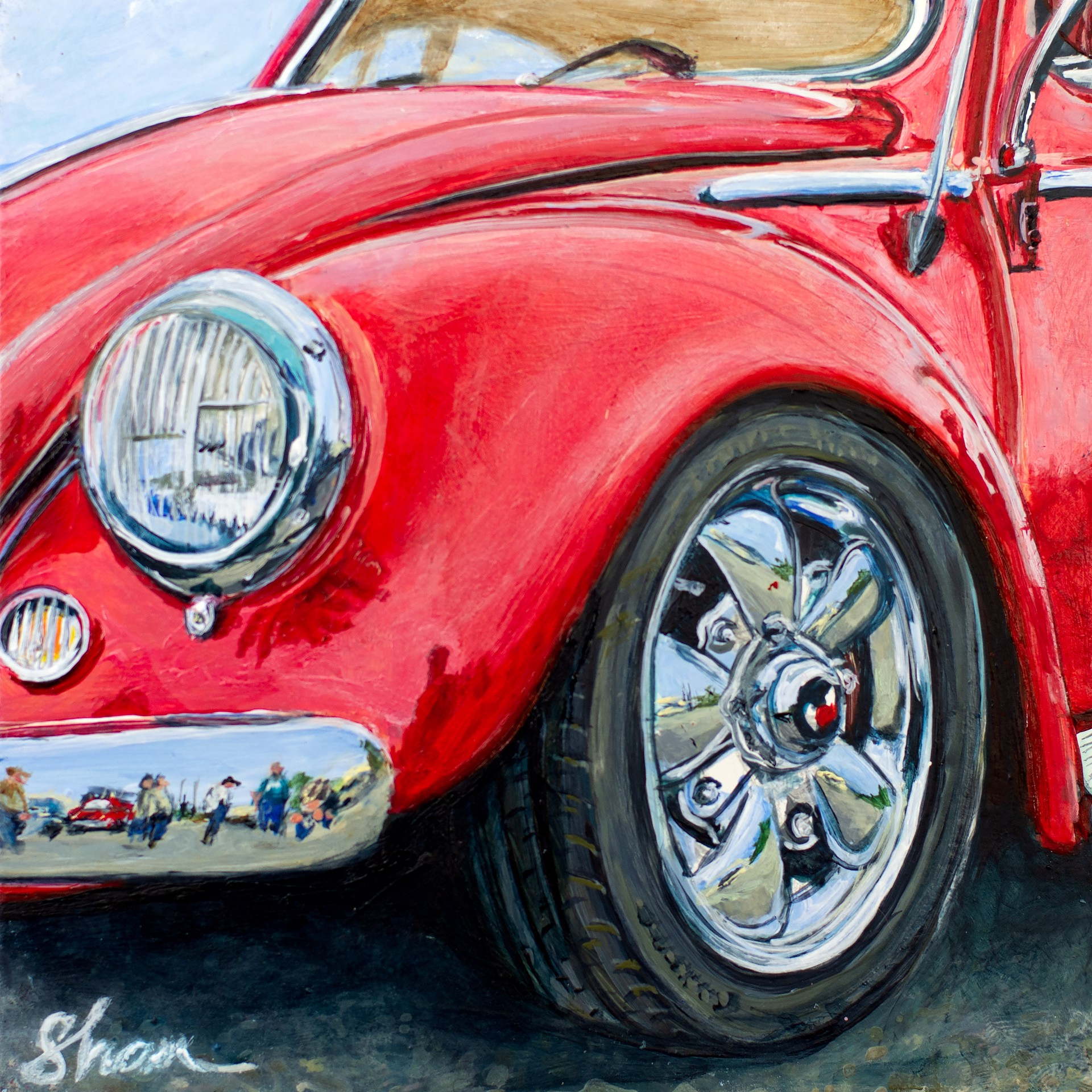 Crimson Volkswagen by Shan Fannin