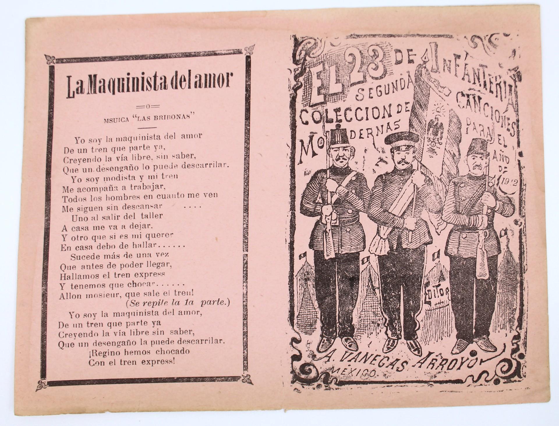 El 23 de Infanteria. Segunda Colección de Canciones Modernas by José Guadalupe Posada (1852 - 1913)