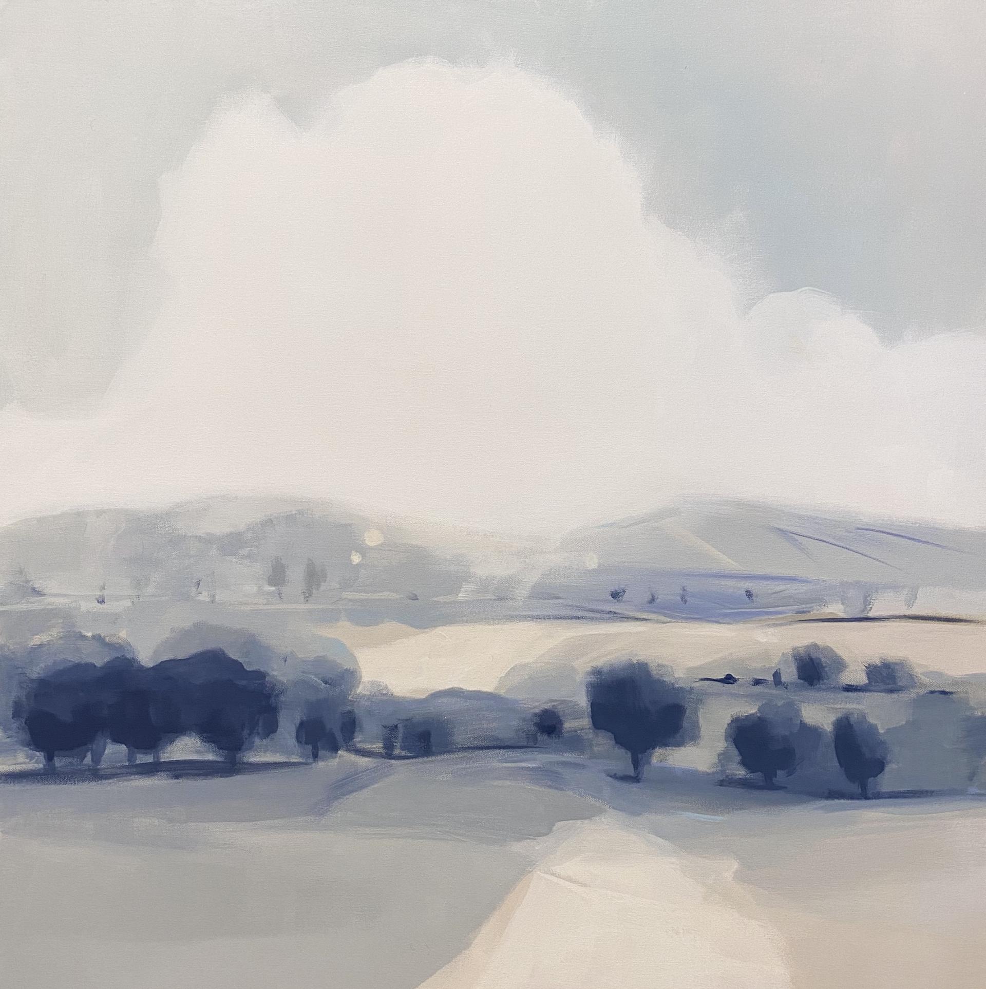 Tree Bank in Blue Gray by Hannah Bureau