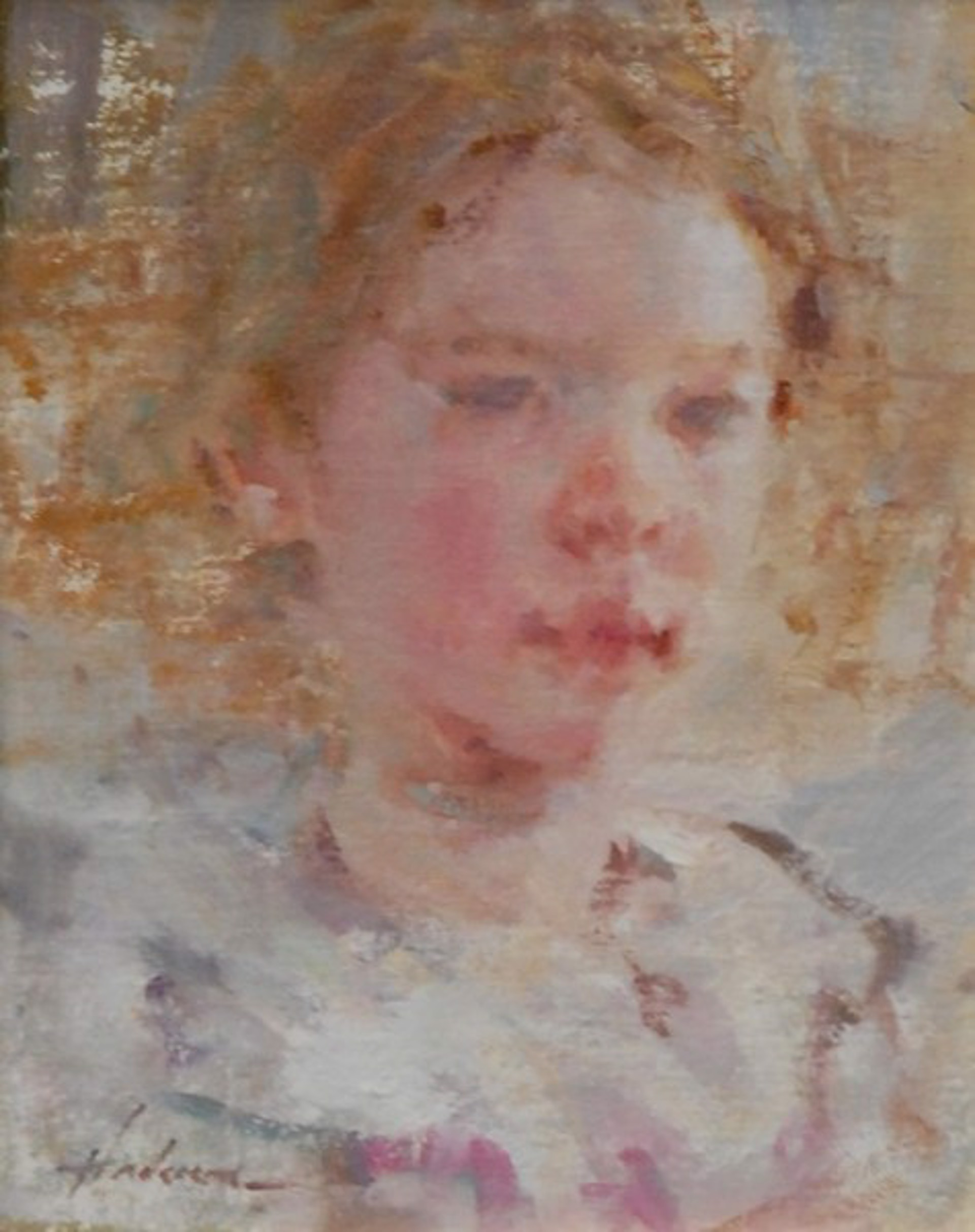 Girl in White and Pink by Carolyn Anderson