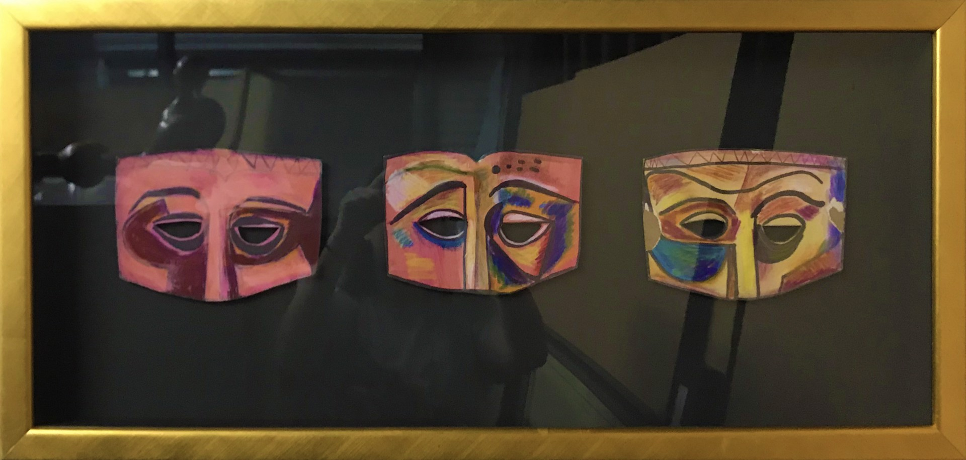Three Ladies Masks by Bill Reily