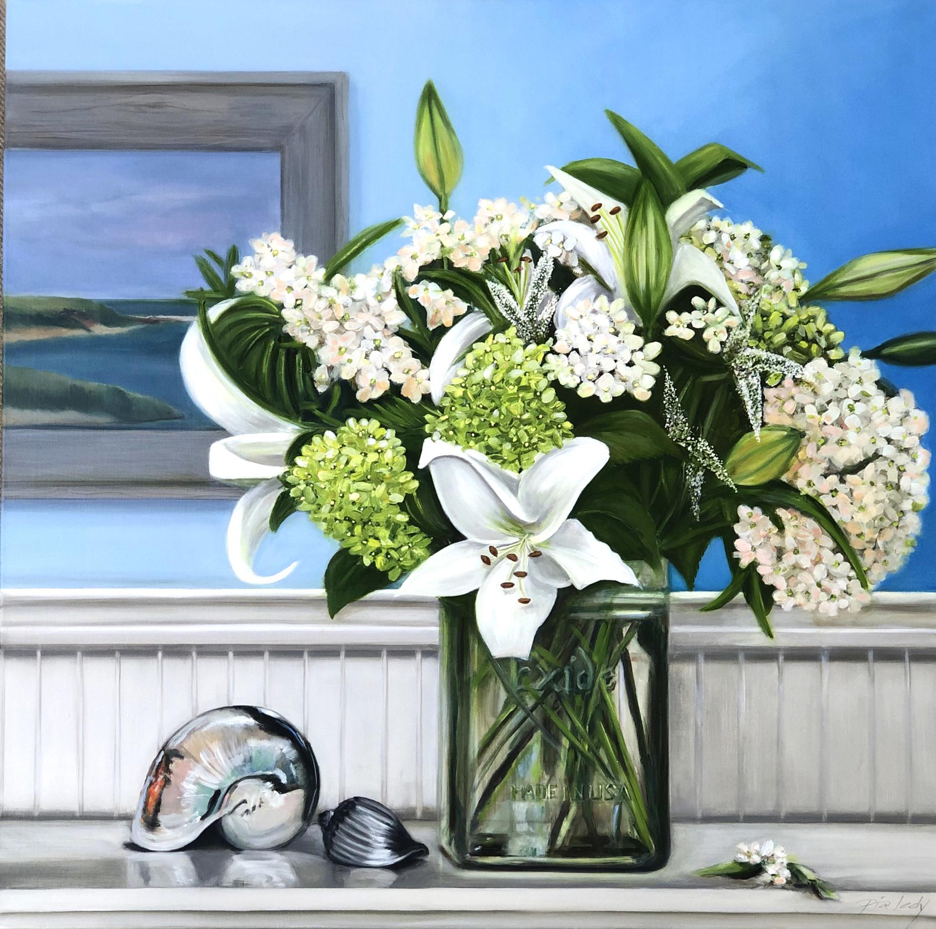 Lilies & Hydrangea by Pia Ledy