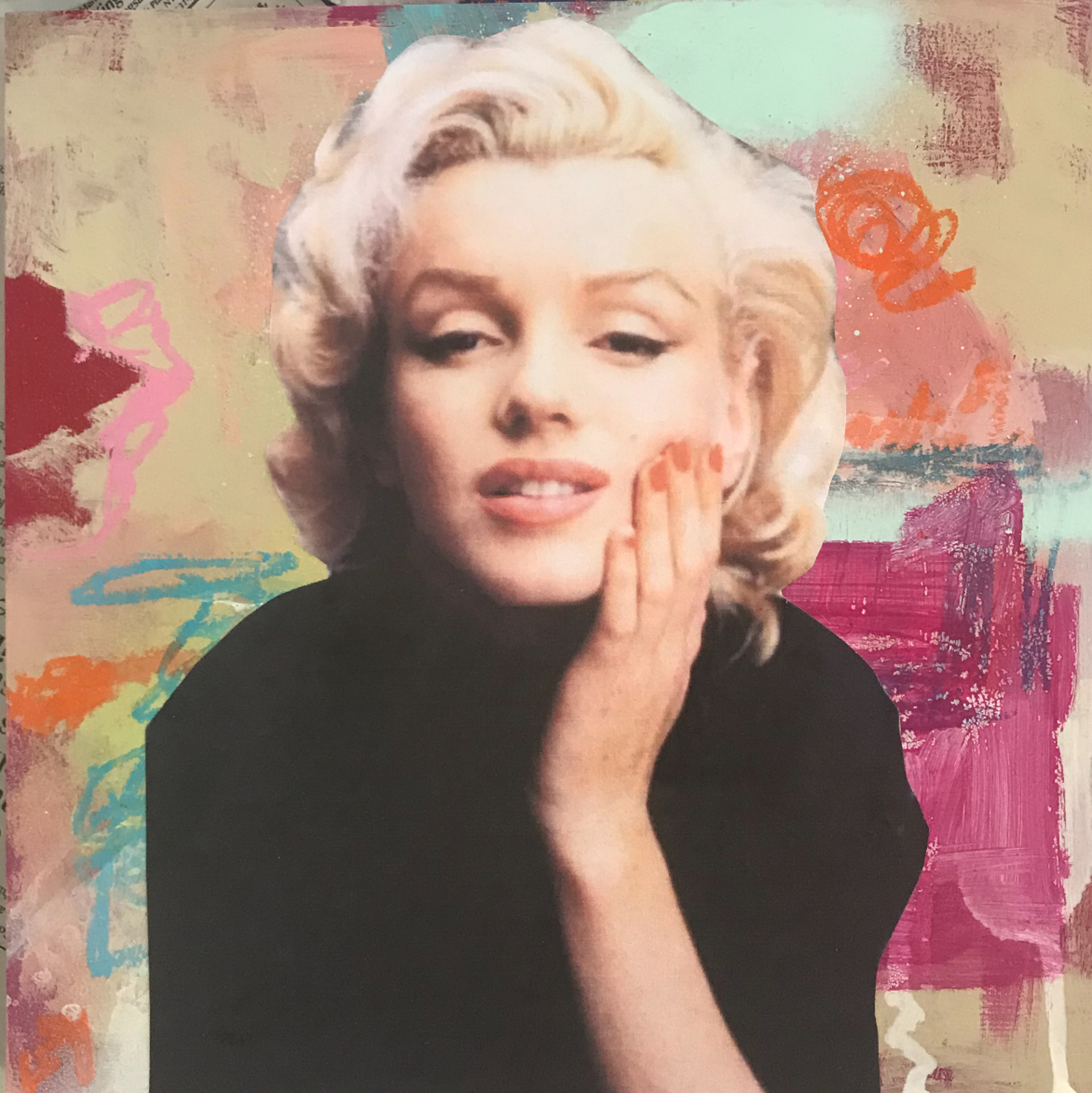 Marilyn Monroe -Part of Icons Triptych  by Andi M