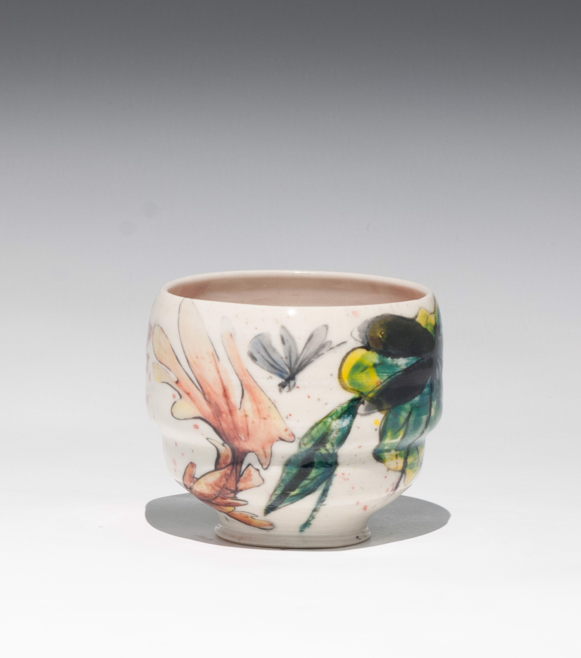 Insect Tea Bowl 10 by Caroline Bottom Anderson