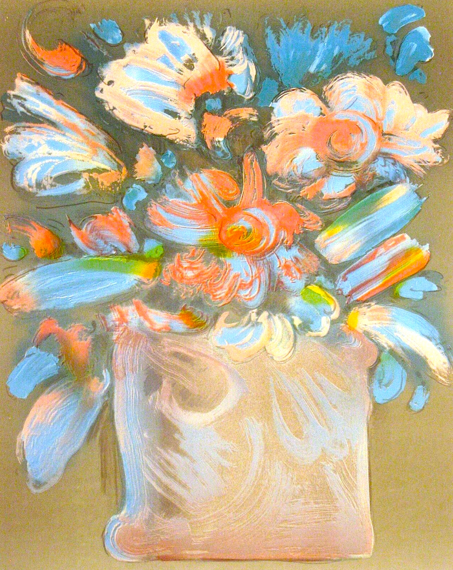Untitled (Flowers In Vase) by Peter Max