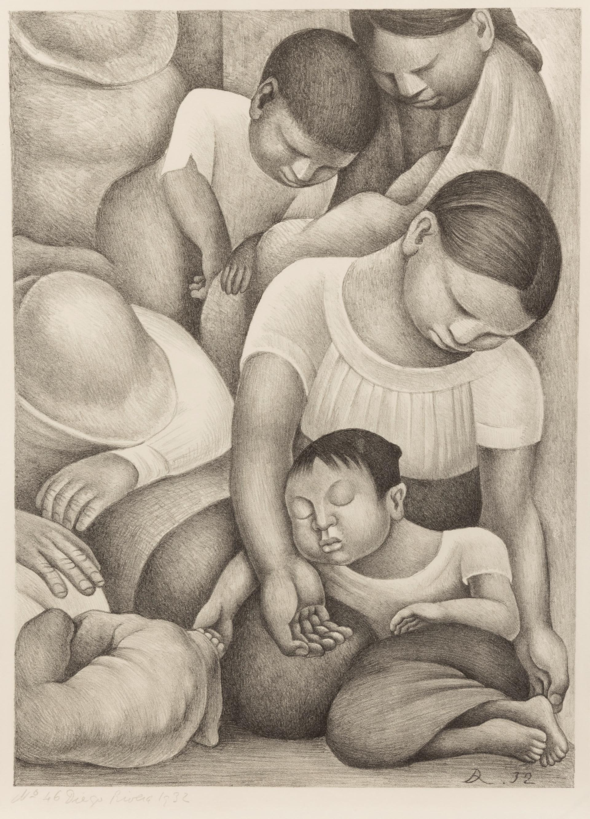 El Sueño (La Noche de los Pobres) by Diego Rivera (1886 – 1957)