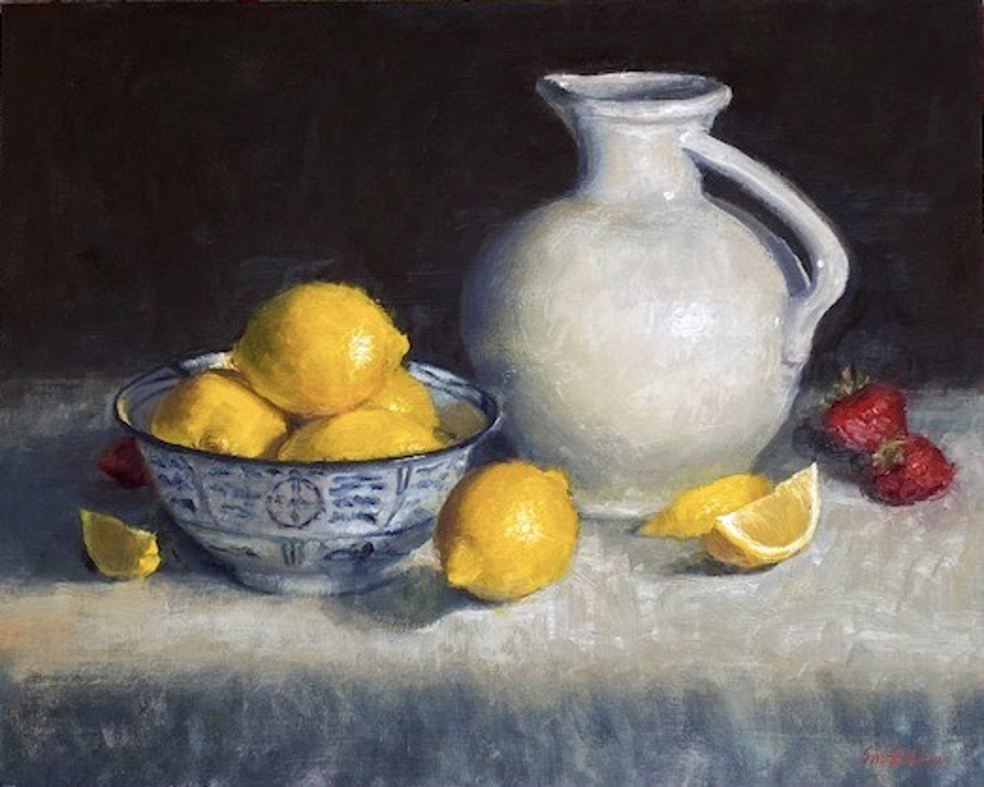 Still Life with Lemons by Sue Foell, opa