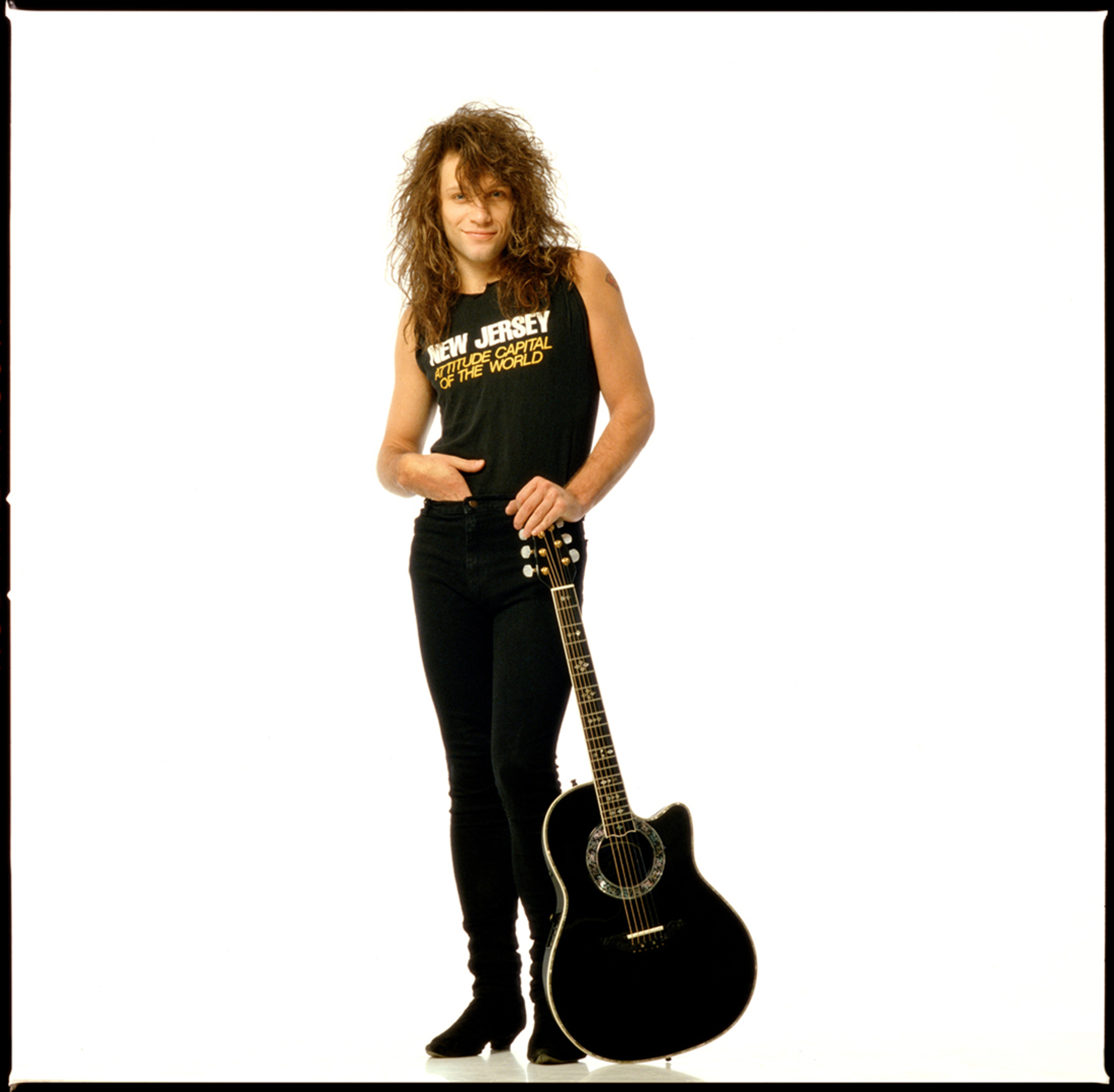 88215 Jon Bon Jovi On White 2 Color by Timothy White